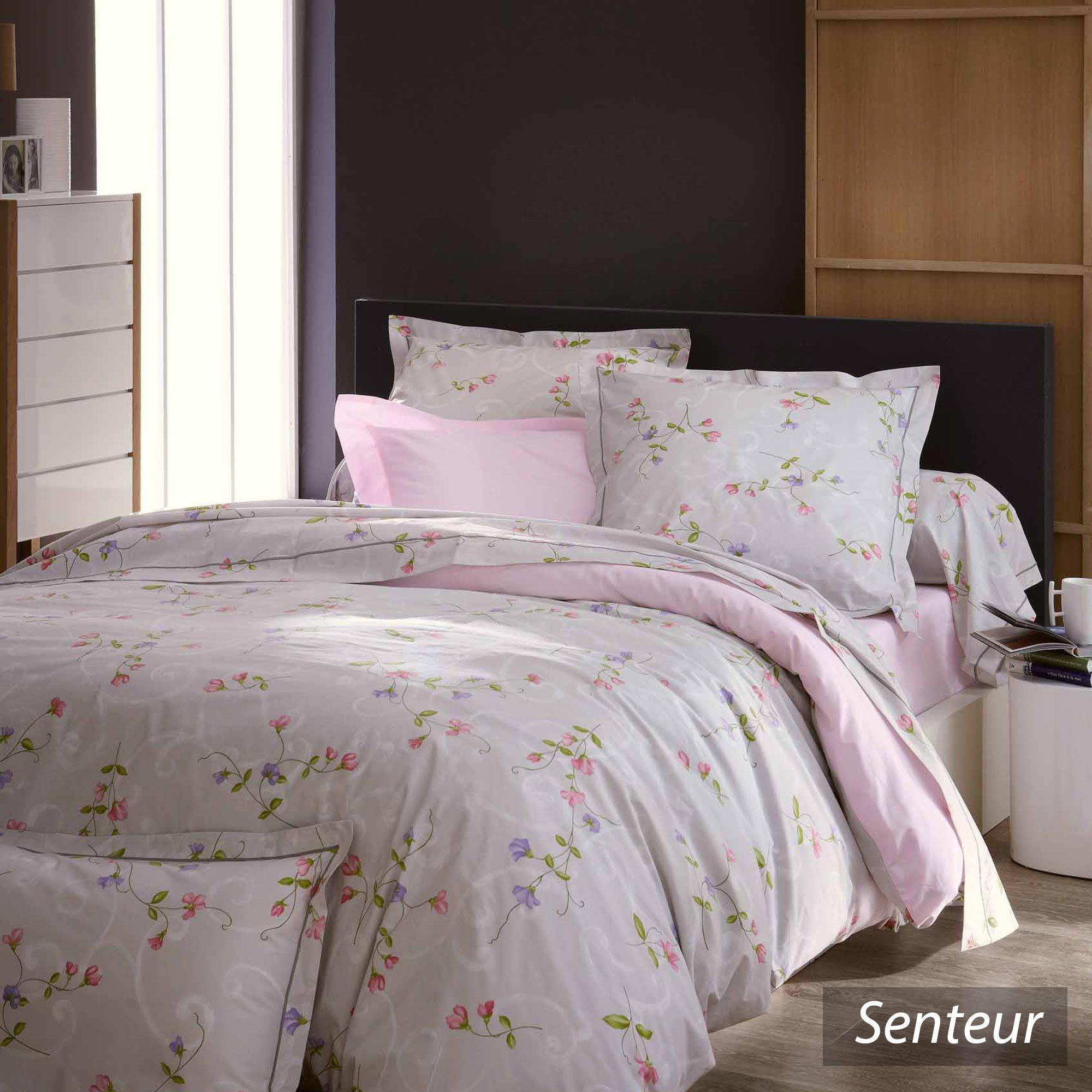 housse de couette 140x200 cm percale pur coton senteur. Black Bedroom Furniture Sets. Home Design Ideas