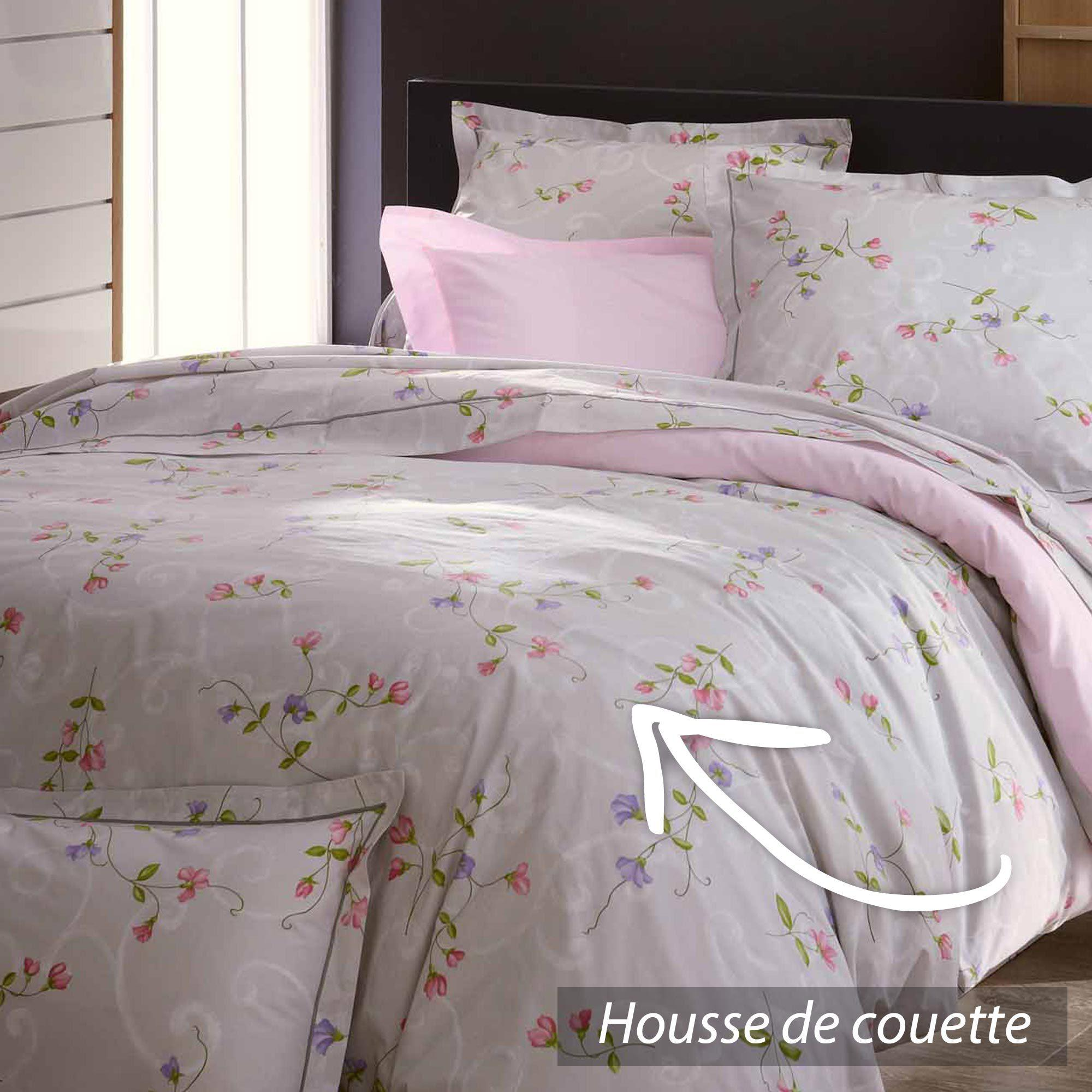 housse de couette percale pur coton peign 140x200 cm. Black Bedroom Furniture Sets. Home Design Ideas