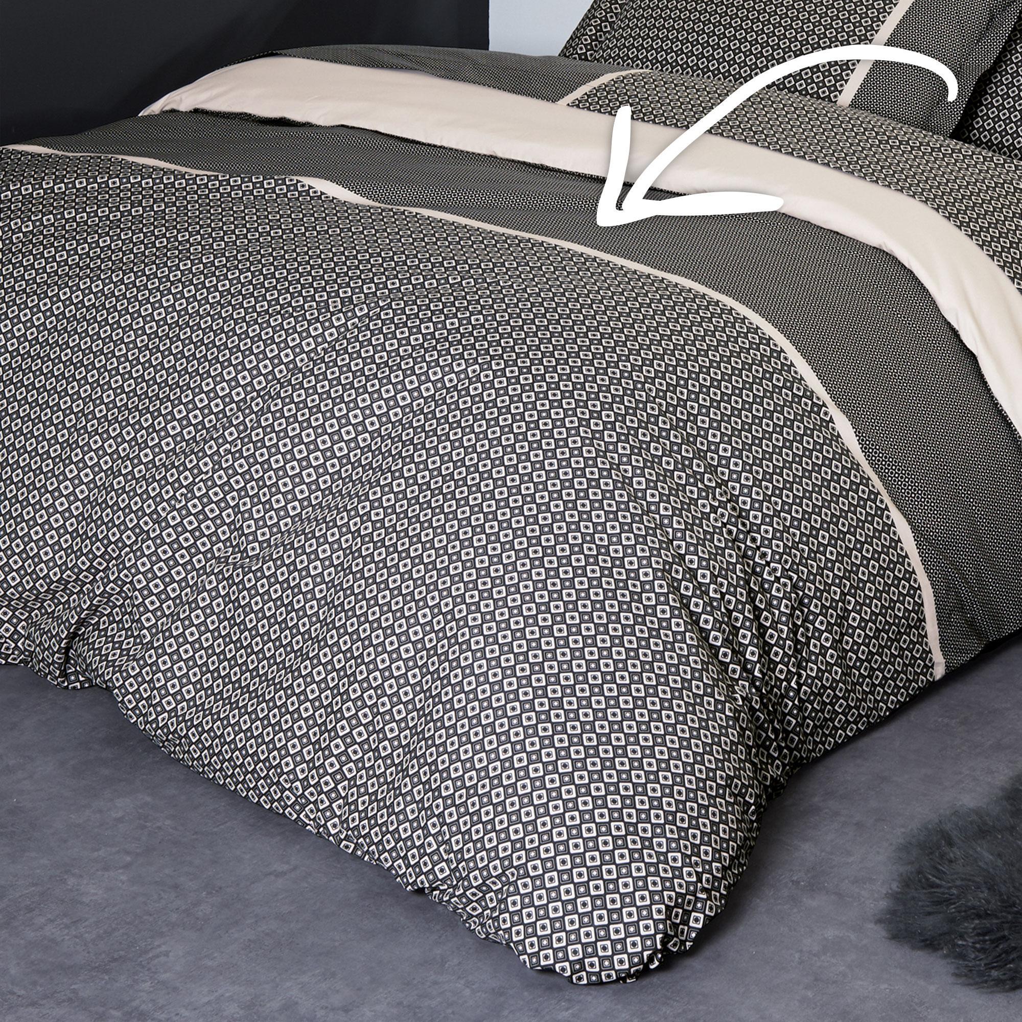 housse de couette percale pur coton peign 240x220 cm gatsby linnea vente de linge de maison. Black Bedroom Furniture Sets. Home Design Ideas