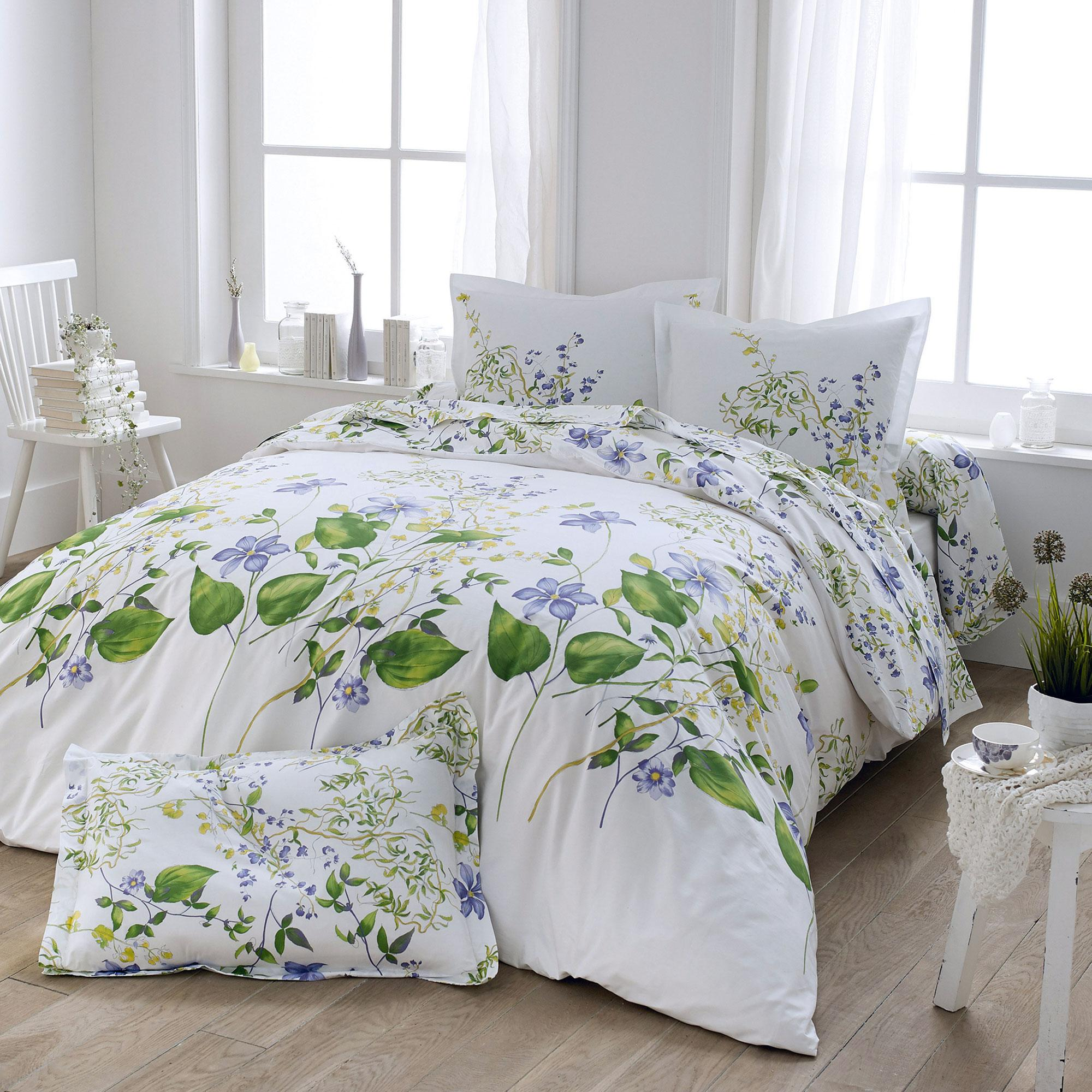 housse de couette 240x220 cm percale pur coton grace ebay. Black Bedroom Furniture Sets. Home Design Ideas
