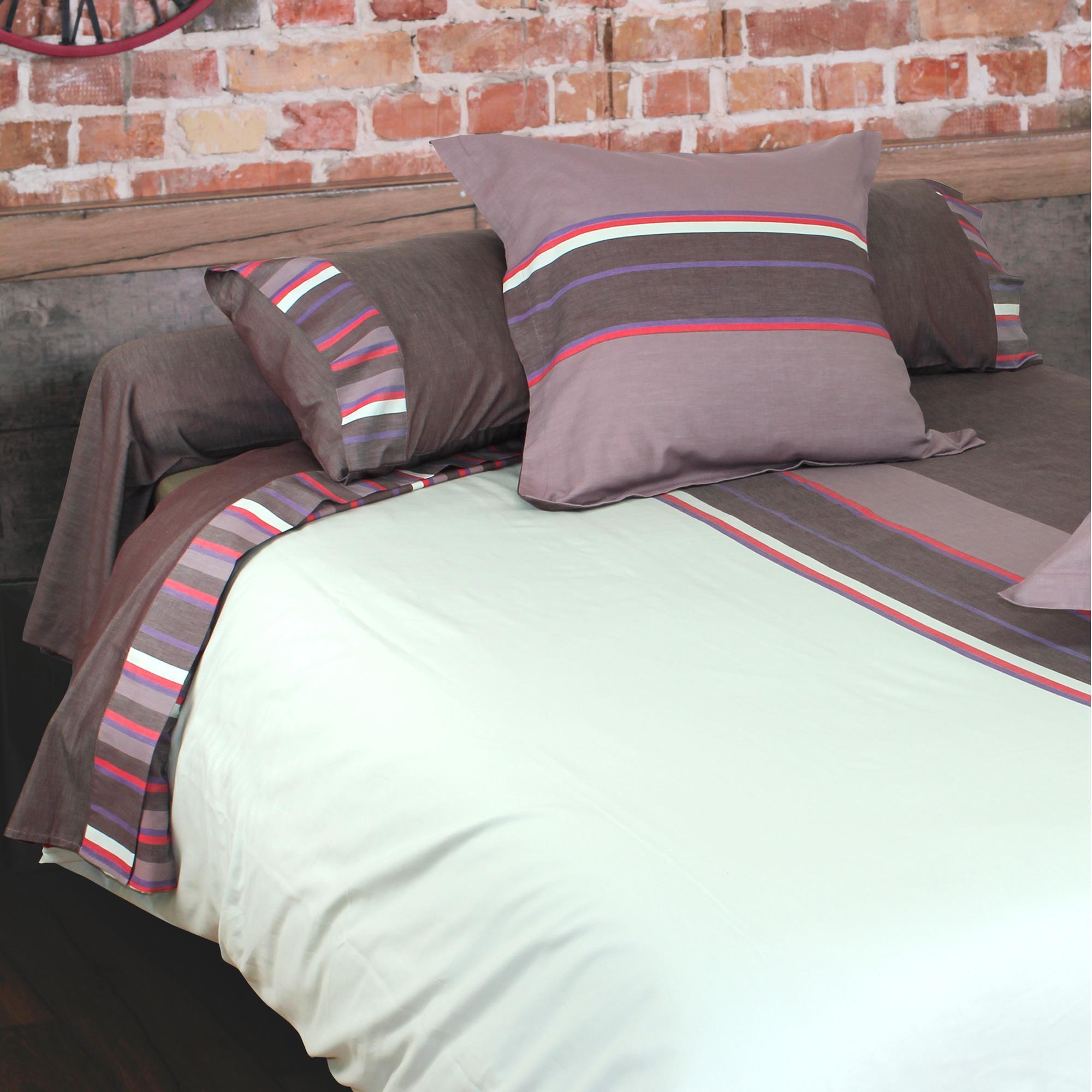 housse de couette percale de coton 240x220 cm madeleine linnea linge de maison et. Black Bedroom Furniture Sets. Home Design Ideas