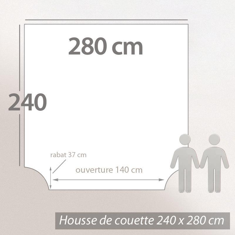 Housse de Couette 240x2- Linge de lit 280x240