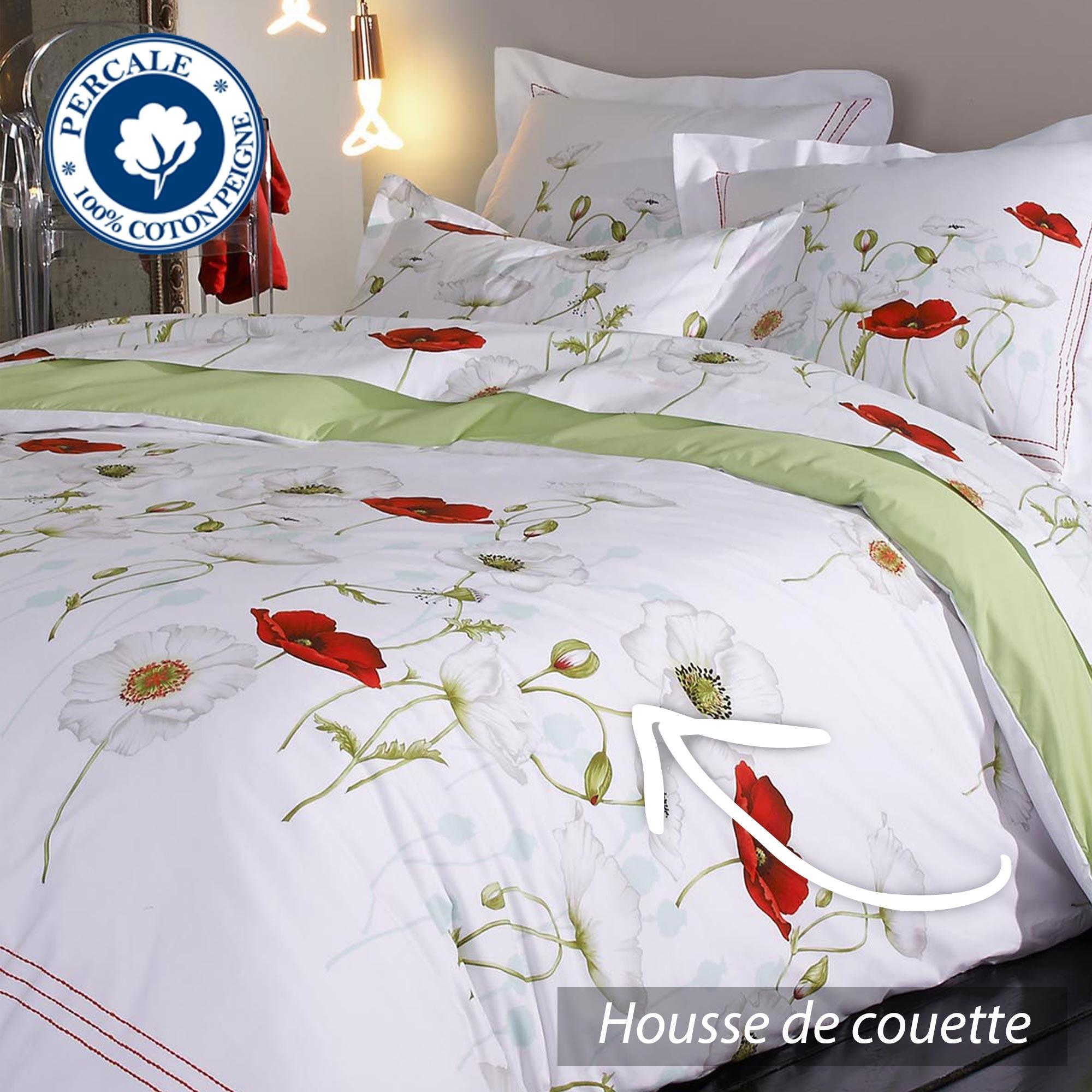 housse de couette percale pur coton peign 280x240 cm. Black Bedroom Furniture Sets. Home Design Ideas