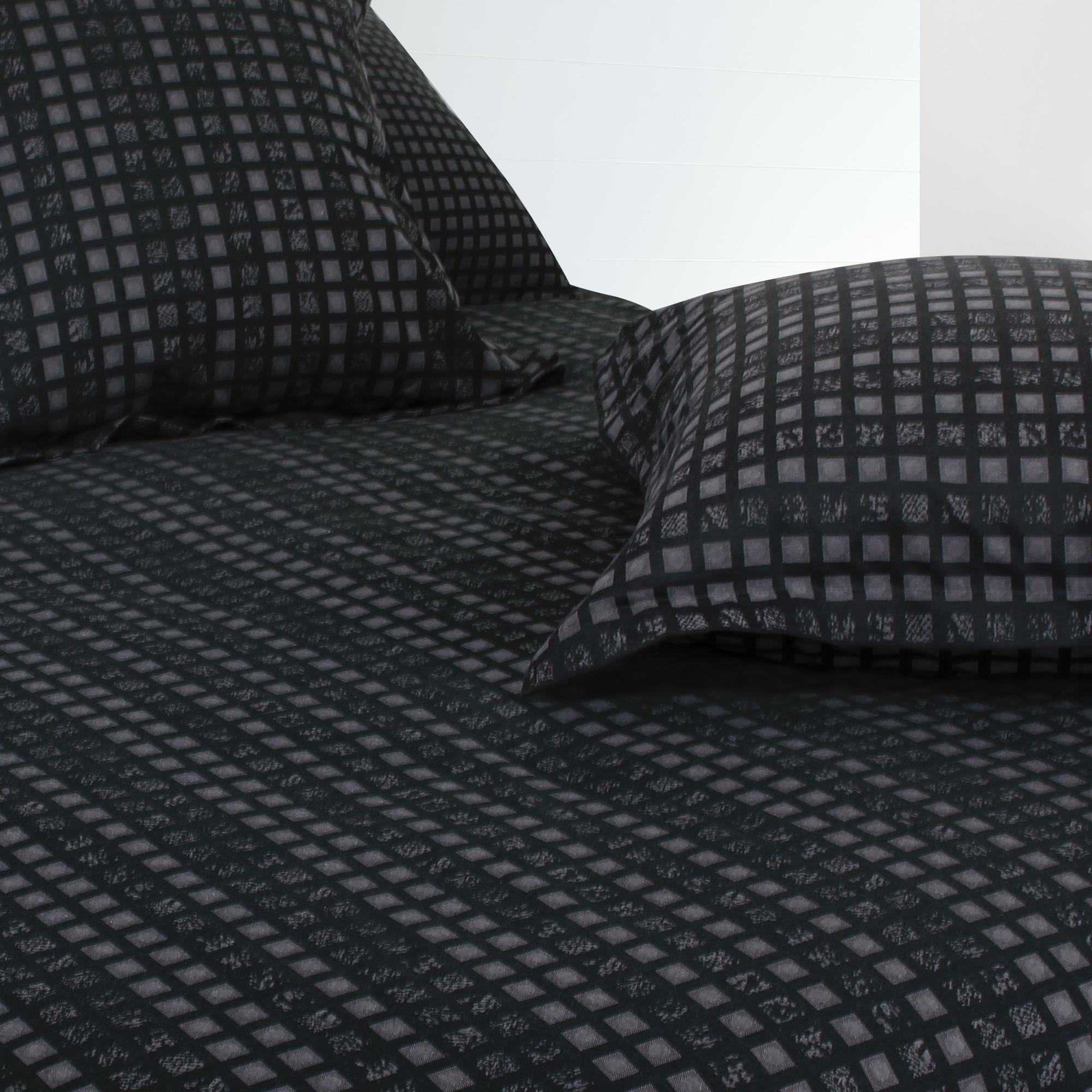 housse de couette satin de coton tiss teint 240x220 cm trocadero linnea linge de maison et. Black Bedroom Furniture Sets. Home Design Ideas