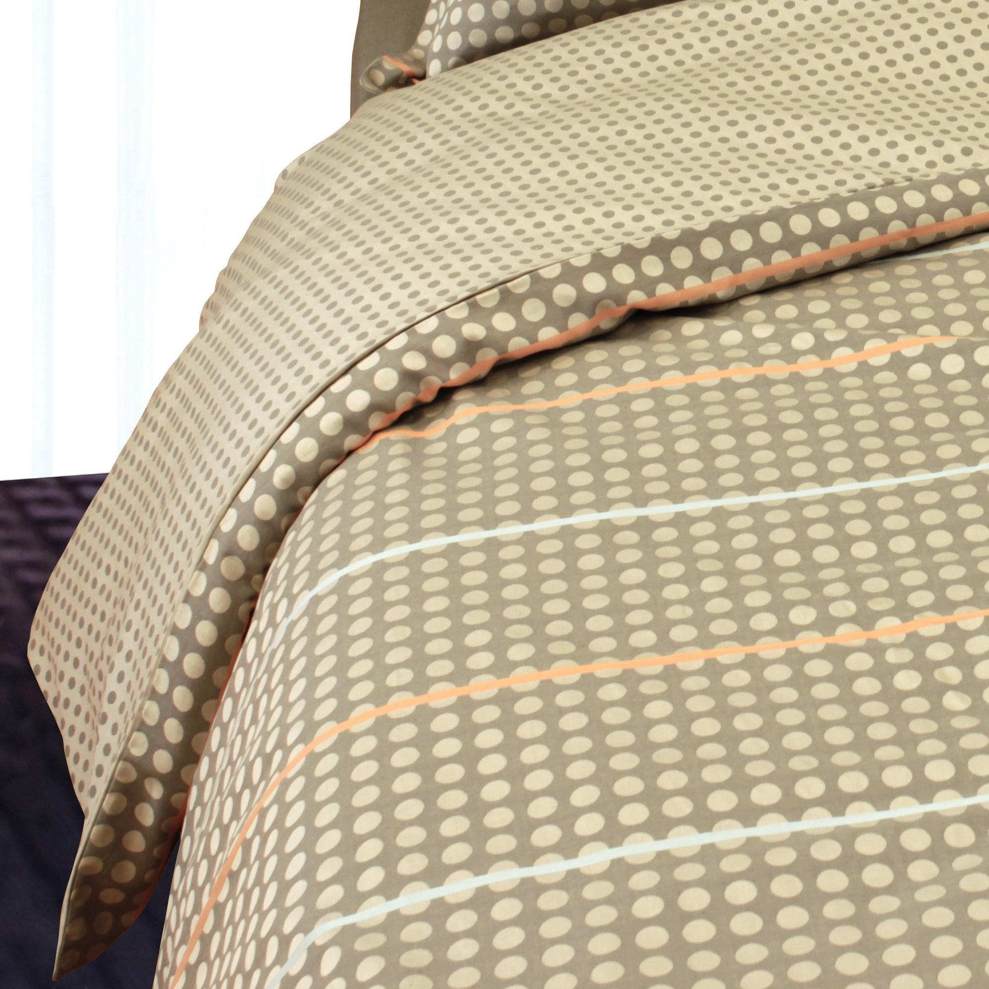 housse de couette 280x240 satin de coton dauphine marron ebay. Black Bedroom Furniture Sets. Home Design Ideas