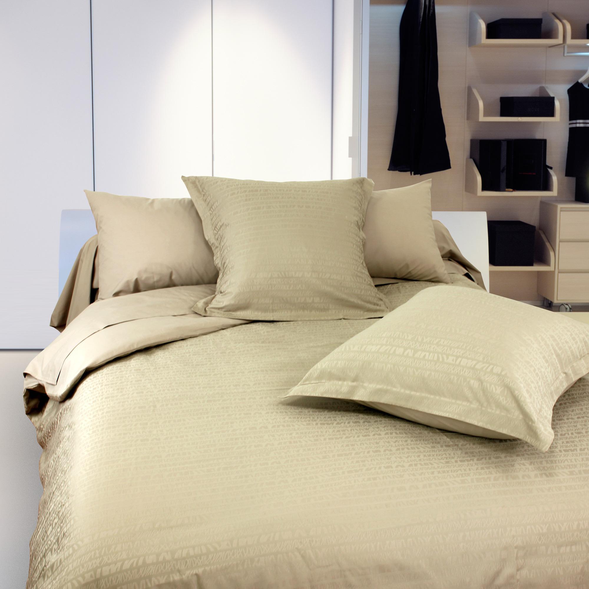 housse de couette 280x240 satin de coton victoire marron clair ebay. Black Bedroom Furniture Sets. Home Design Ideas