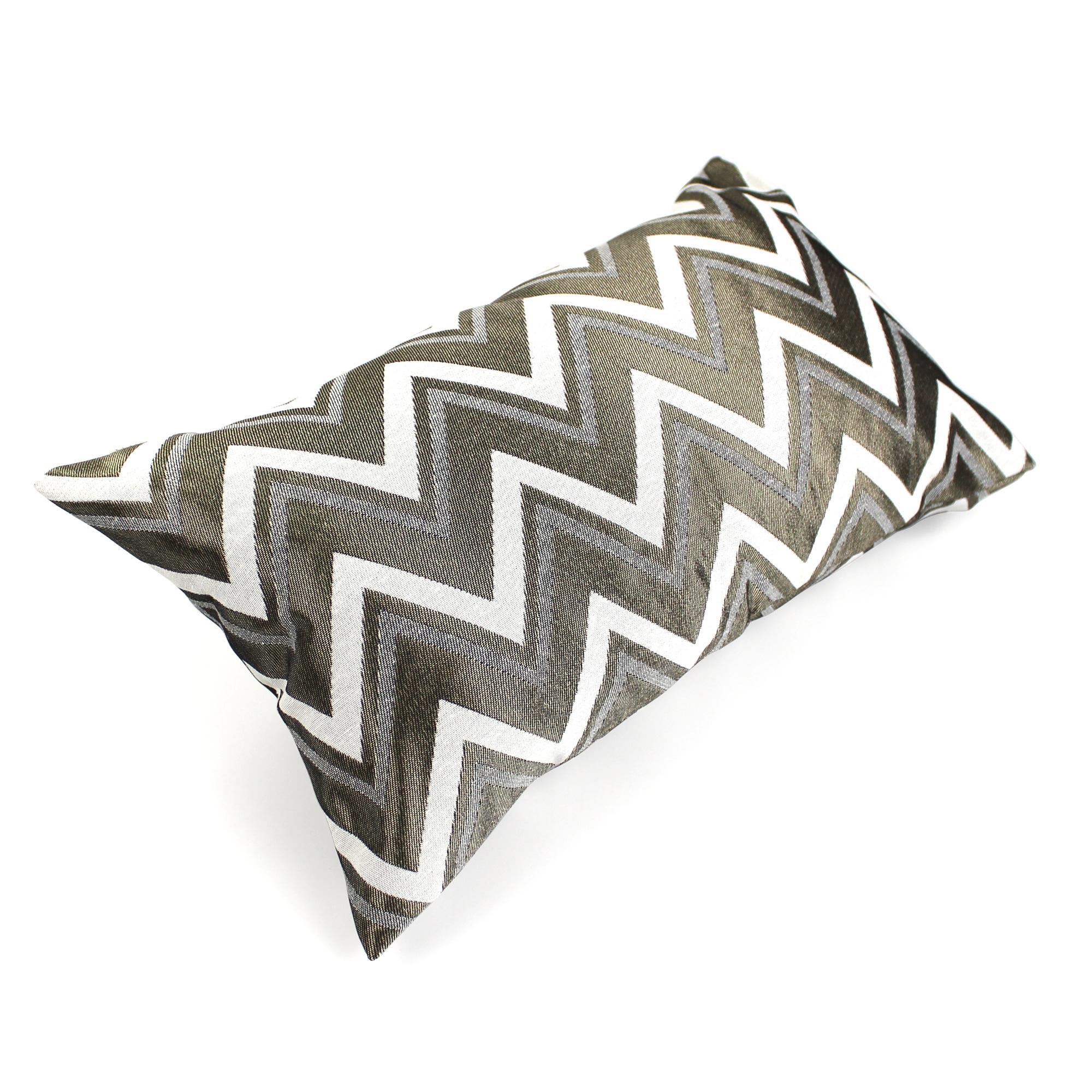 housse de coussin 30x50 cm agrano zigzag polycoton. Black Bedroom Furniture Sets. Home Design Ideas