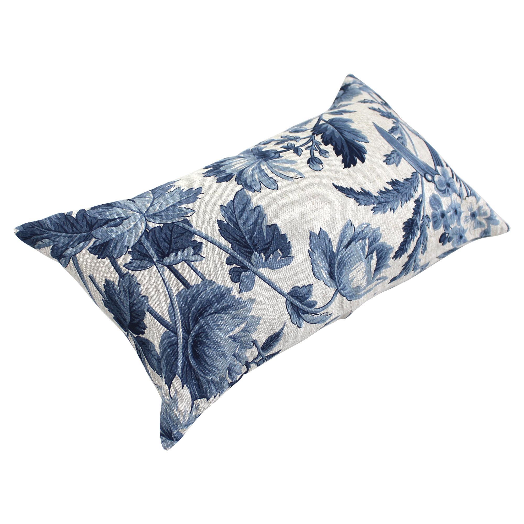housse de coussin 30x50 cm cossito feuilles de bl 100 lin linnea linge de maison et. Black Bedroom Furniture Sets. Home Design Ideas