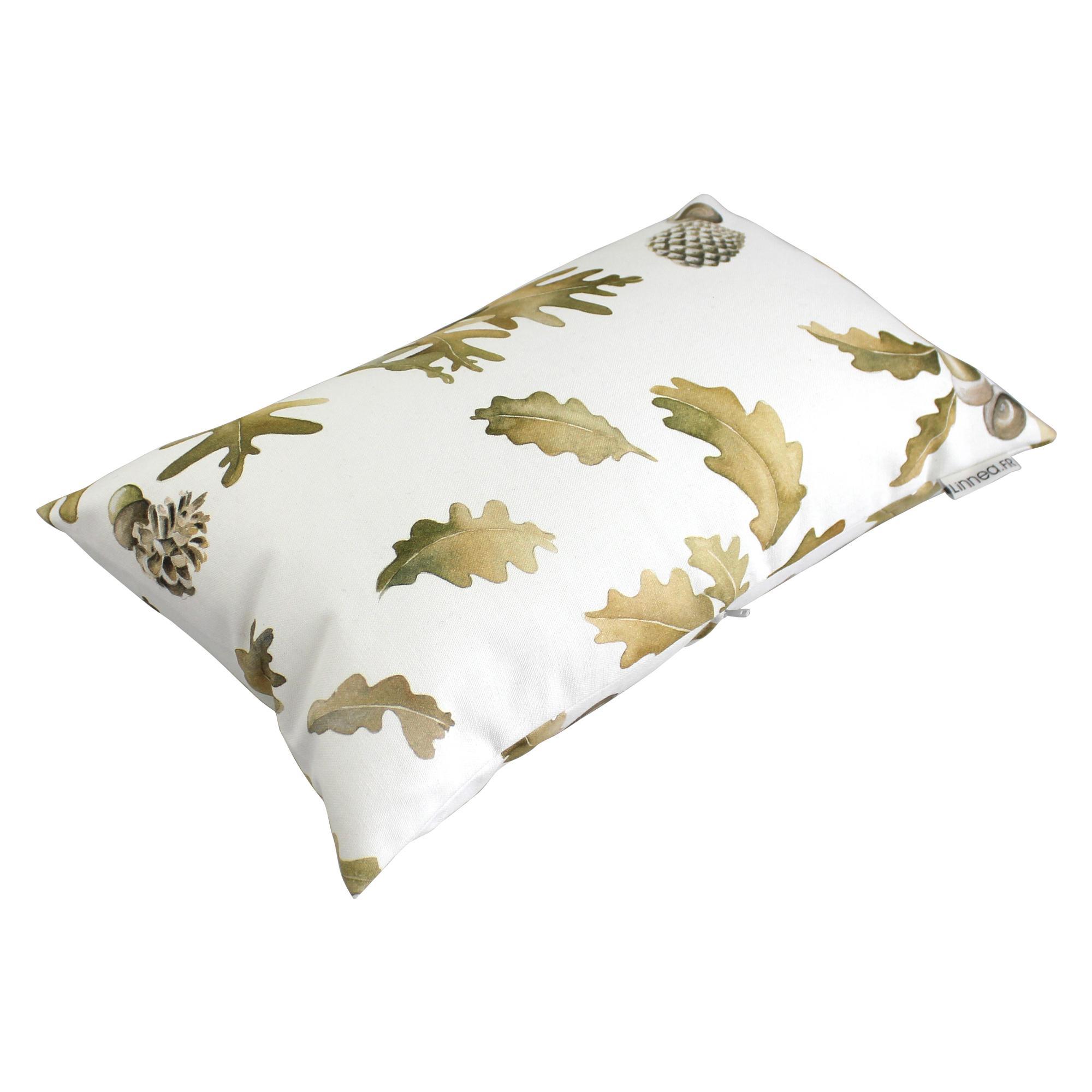 housse de coussin 30x50 cm doma feuilles d 39 automne 100 coton linnea linge de maison et. Black Bedroom Furniture Sets. Home Design Ideas