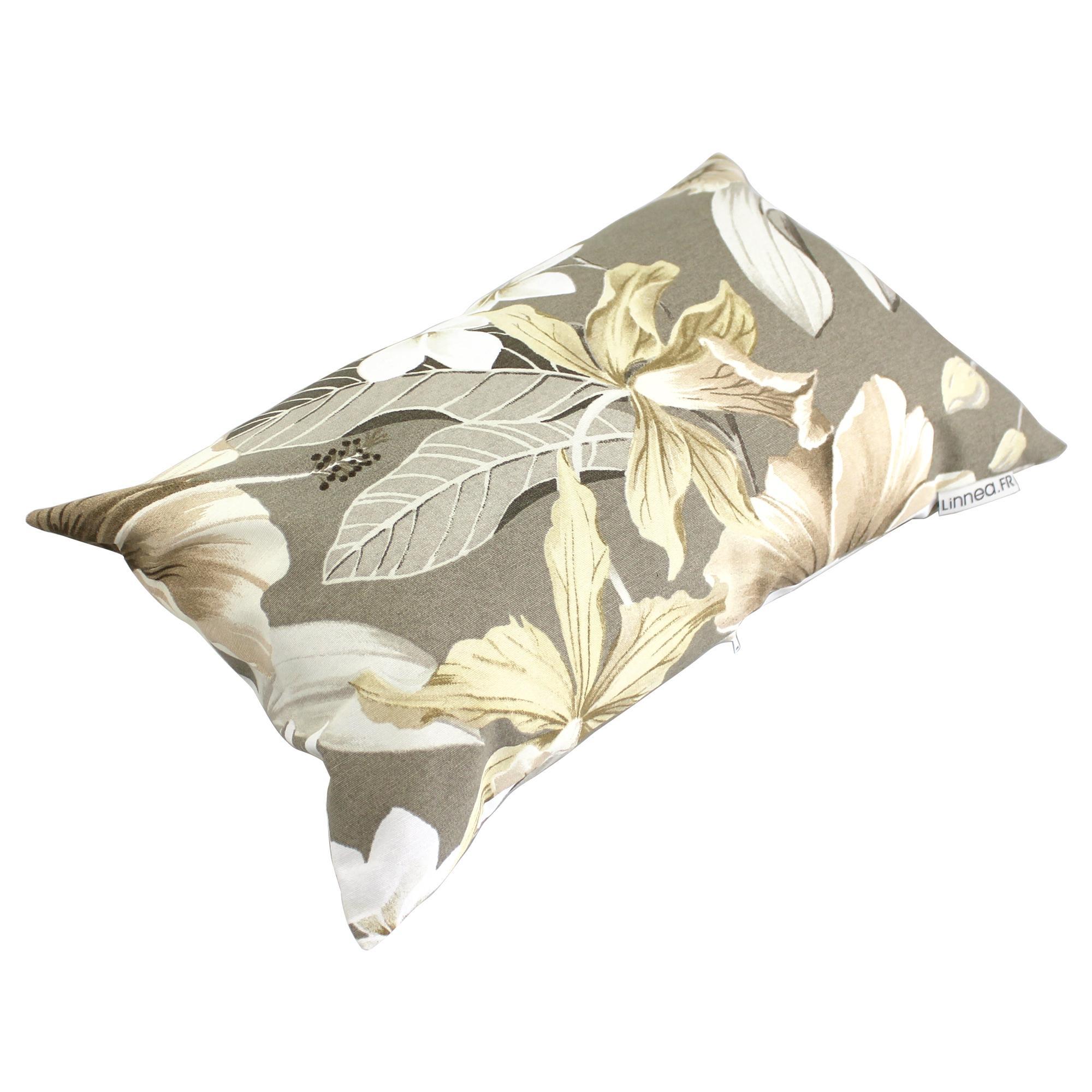housse de coussin 30x50 cm liveri flowers 100 coton linnea linge de maison et. Black Bedroom Furniture Sets. Home Design Ideas