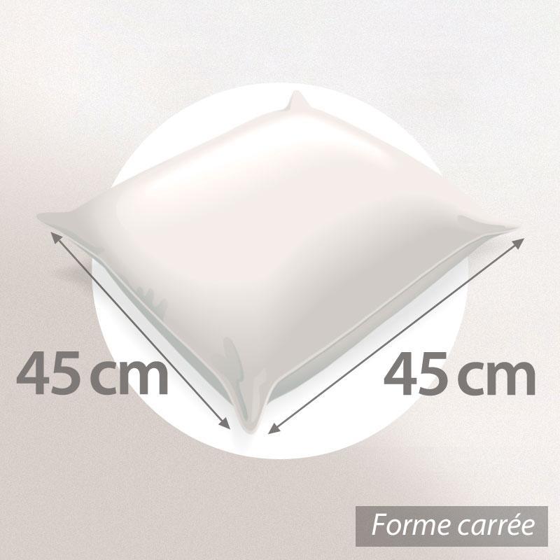 Housse de coussin 45x45 cm TAZZO Rayures beiges   100% coton