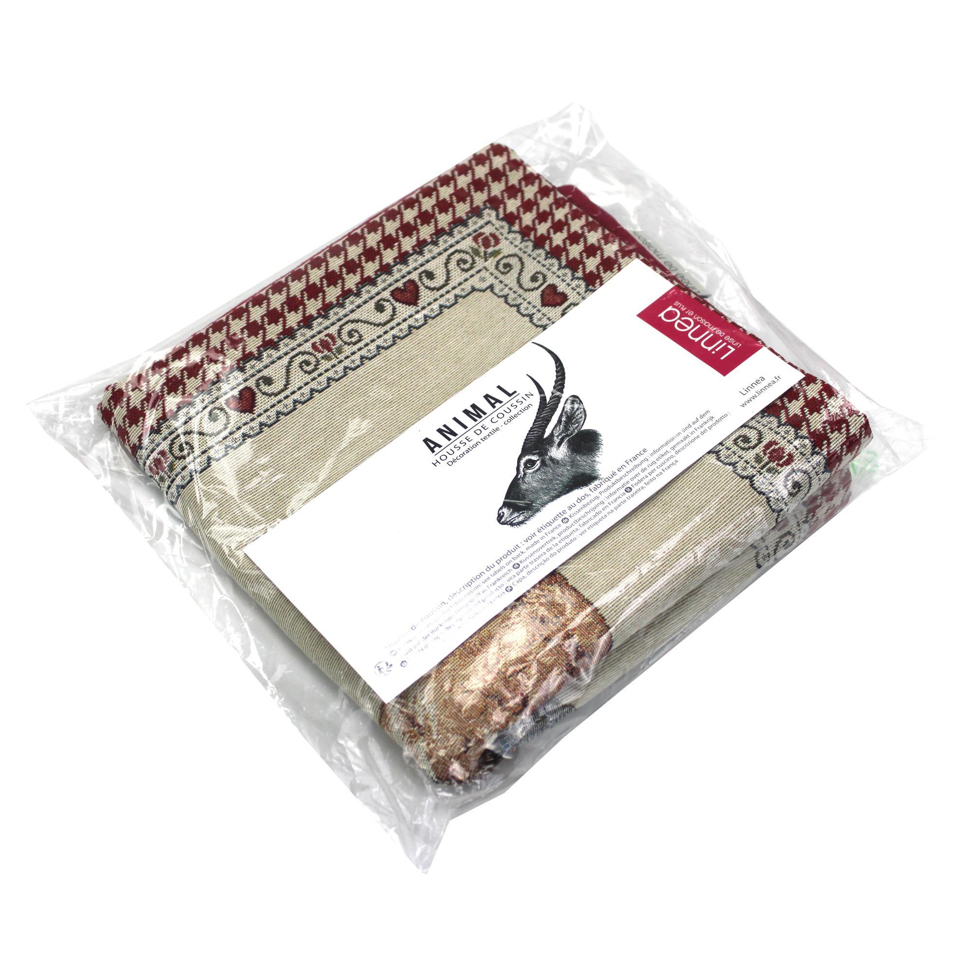 Housse de coussin 45x45 cm termoli poule polycoton acrylique linnea vente de linge de maison - Housse de coussin 45x45 ...