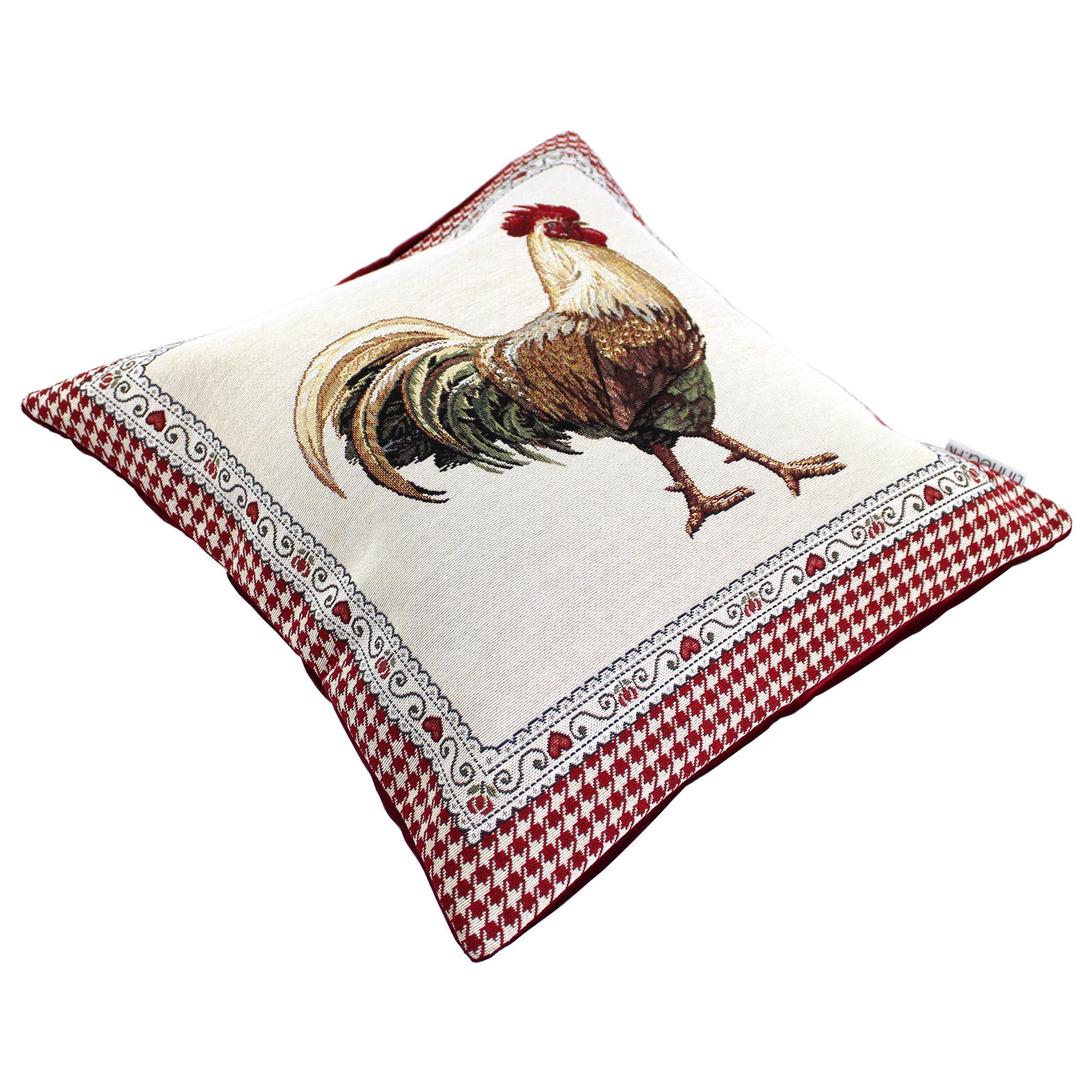 housse de coussin 45x45 tonale coq polycoton acrylique. Black Bedroom Furniture Sets. Home Design Ideas