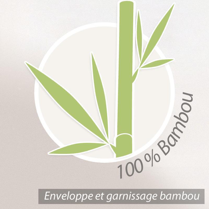 Couette 260x240 Cm Bamboo Fibre De Bambou 400 G M2 Linnea Linge