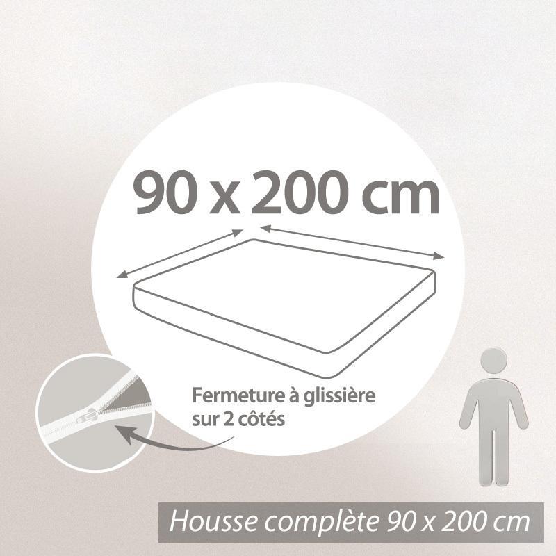 Housse De Matelas Impermeable Celine 90x200cm Matelas 16 A 20cm