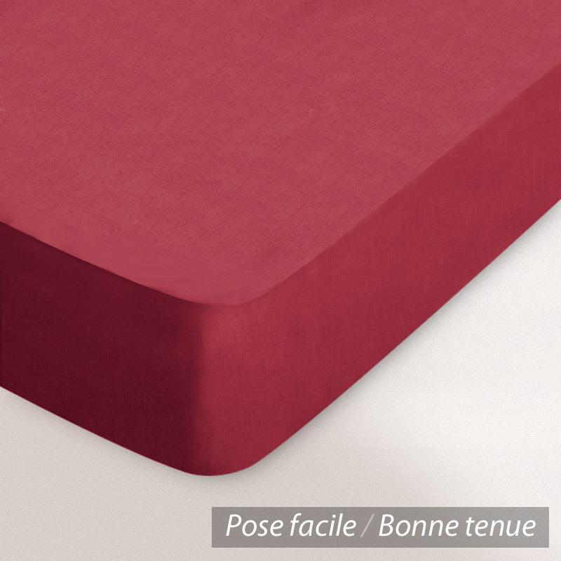 drap housse relaxation 2x100x200cm uni pur coton alto rouge garance tpr t te et pied relevable. Black Bedroom Furniture Sets. Home Design Ideas