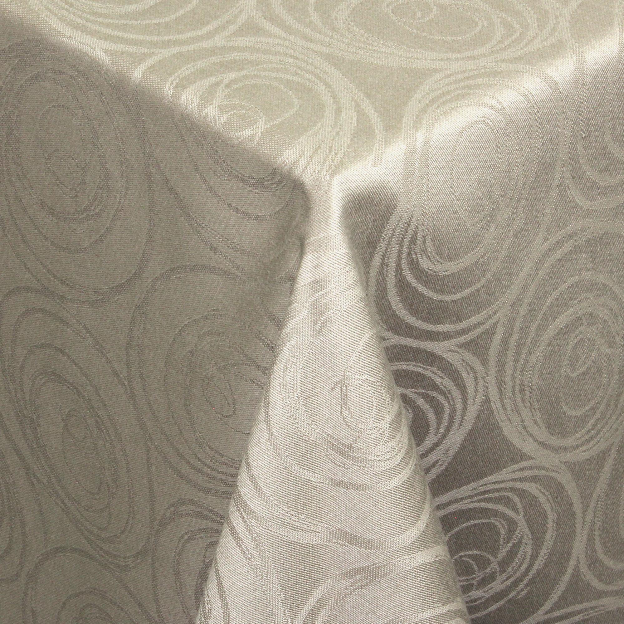 nappe carr e 150x150 cm jacquard 100 coton spirale taupe linnea vente de linge de maison. Black Bedroom Furniture Sets. Home Design Ideas