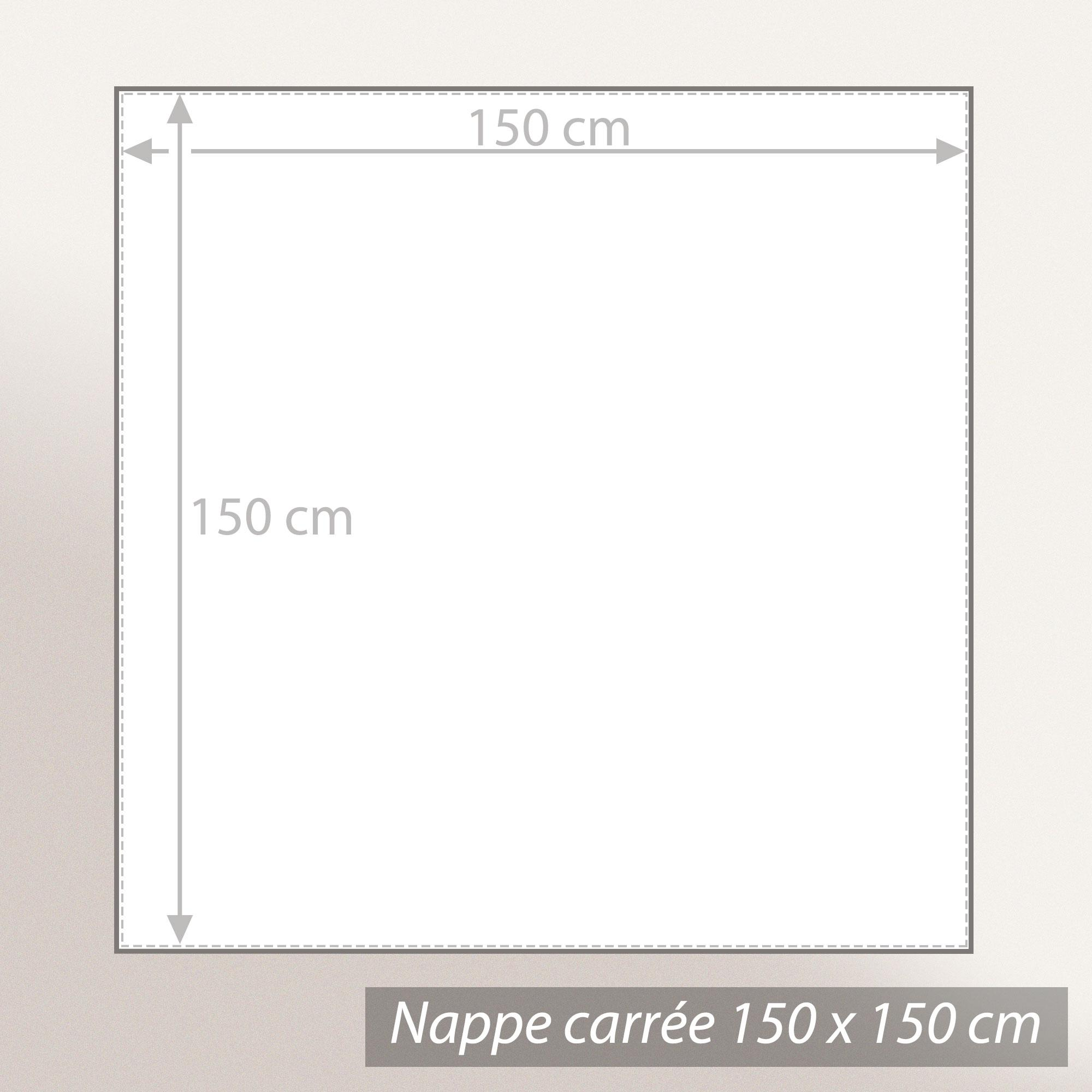 nappe carr e 150x150 cm jacquard 100 coton spirale taupe linnea linge de maison et. Black Bedroom Furniture Sets. Home Design Ideas