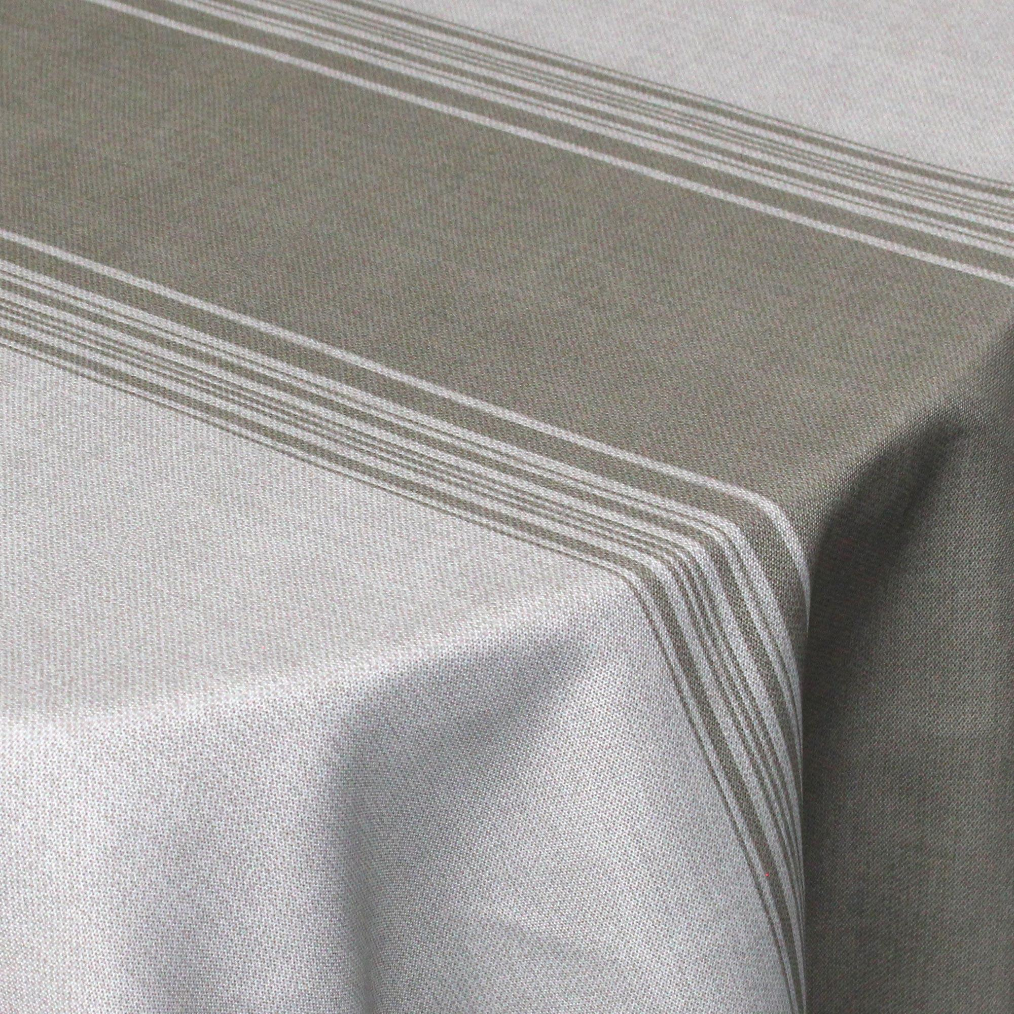 nappe ovale 180x240 cm imprim e 100 polyester bistrot taupe linnea linge de maison et. Black Bedroom Furniture Sets. Home Design Ideas
