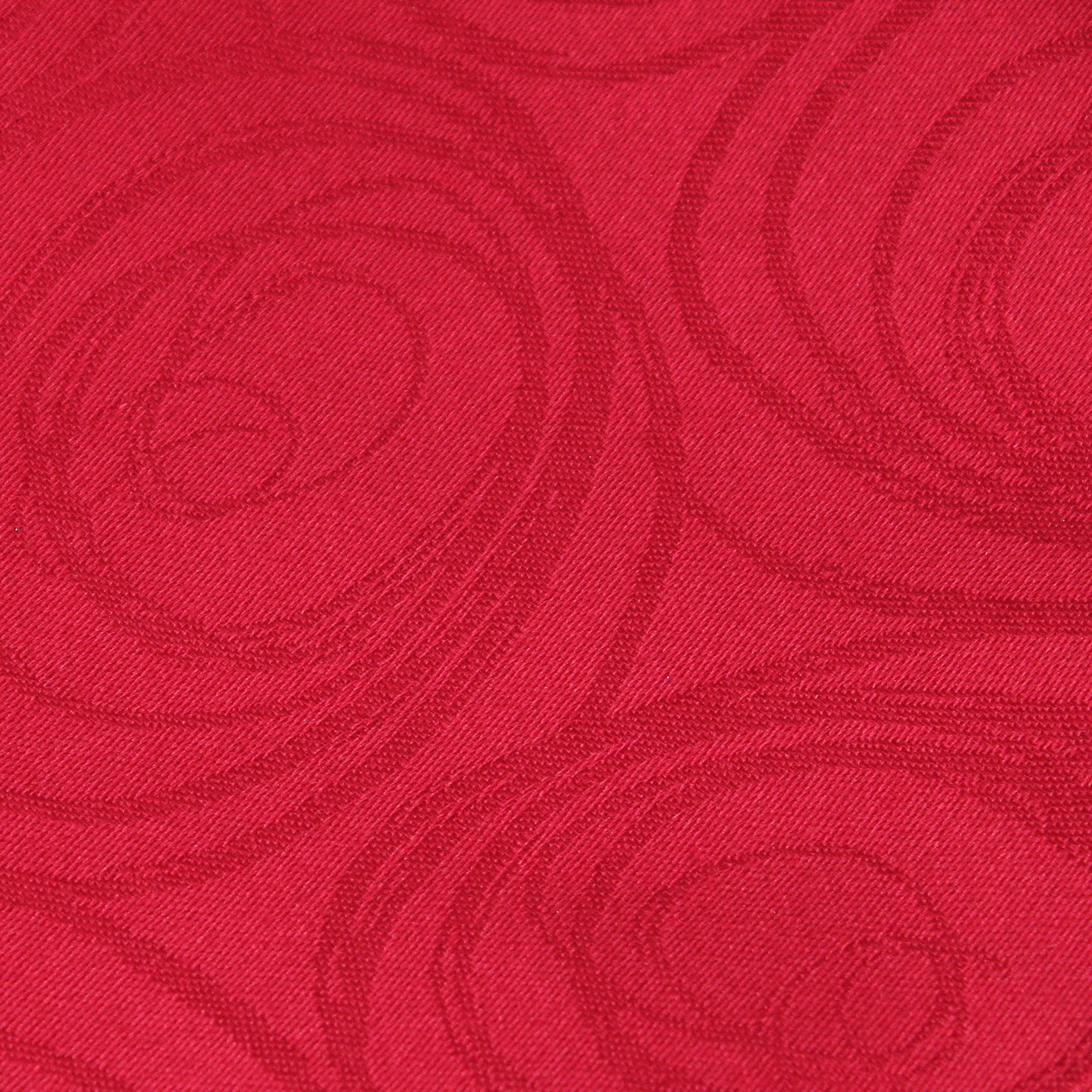 nappe ovale 180x300 cm jacquard 100 coton spirale rouge linnea vente de linge de maison. Black Bedroom Furniture Sets. Home Design Ideas