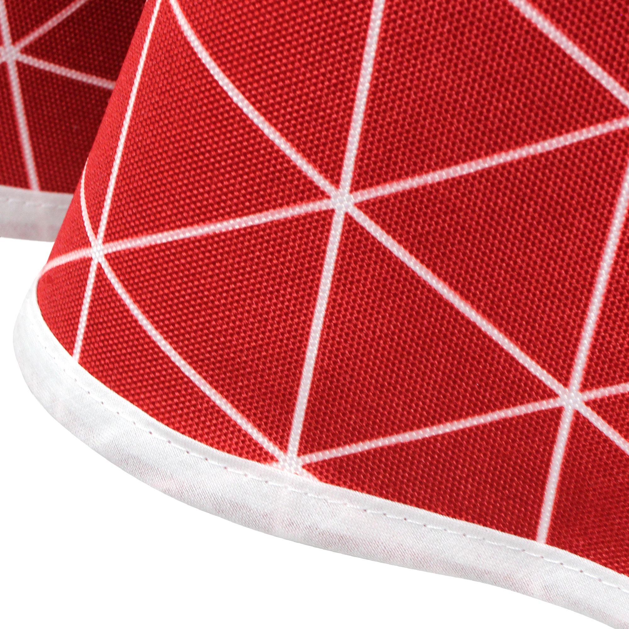 nappe ovale 180x240 cm imprim e 100 polyester paco g om trique rouge cerise linnea linge de. Black Bedroom Furniture Sets. Home Design Ideas