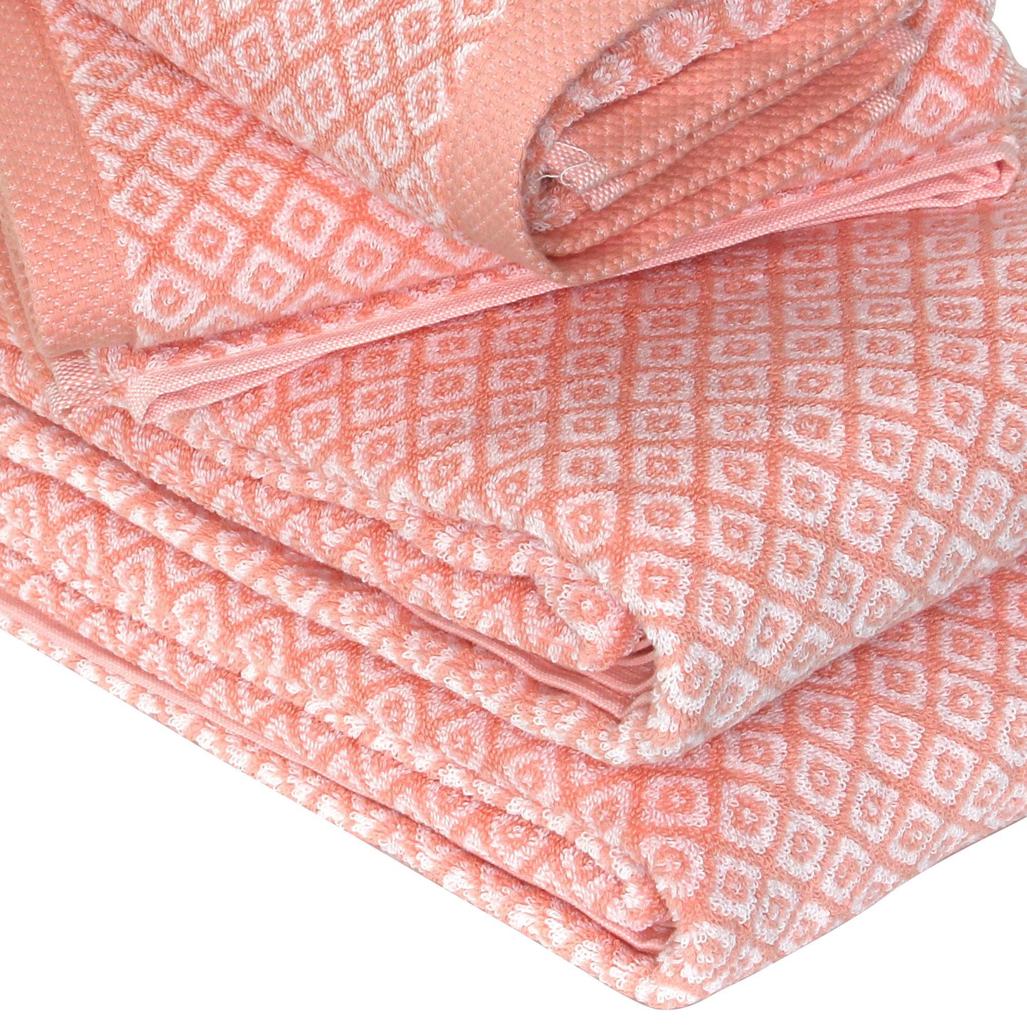 parure de bain 4 pi ces shibori mosaic orange linnea linge de maison et. Black Bedroom Furniture Sets. Home Design Ideas