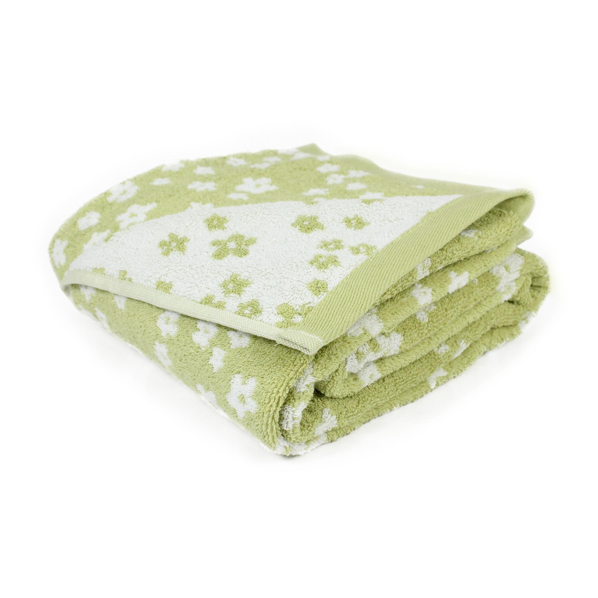 parure de bain 5 pi ces coton facile vert linnea vente de linge de maison. Black Bedroom Furniture Sets. Home Design Ideas