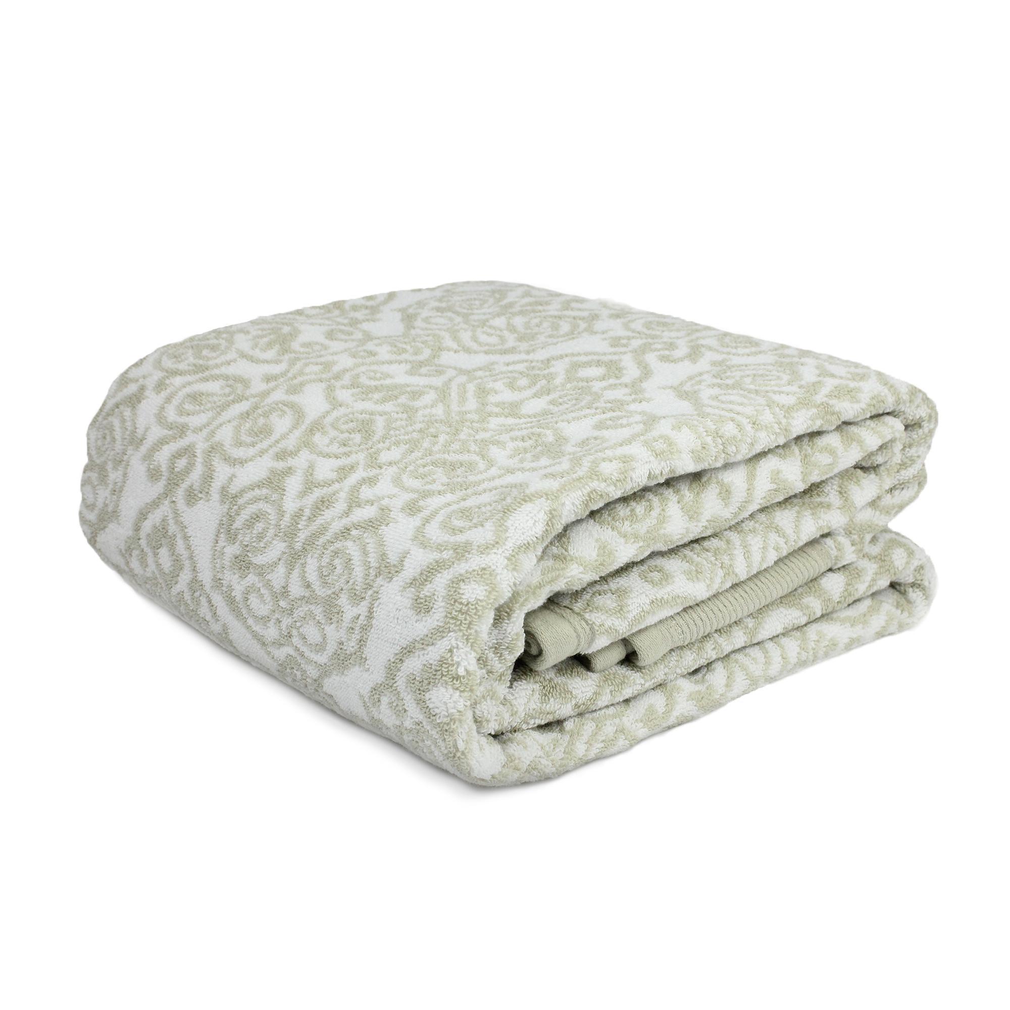 parure de bain 7 pi ces bolero floral gris 520g m2 ebay. Black Bedroom Furniture Sets. Home Design Ideas