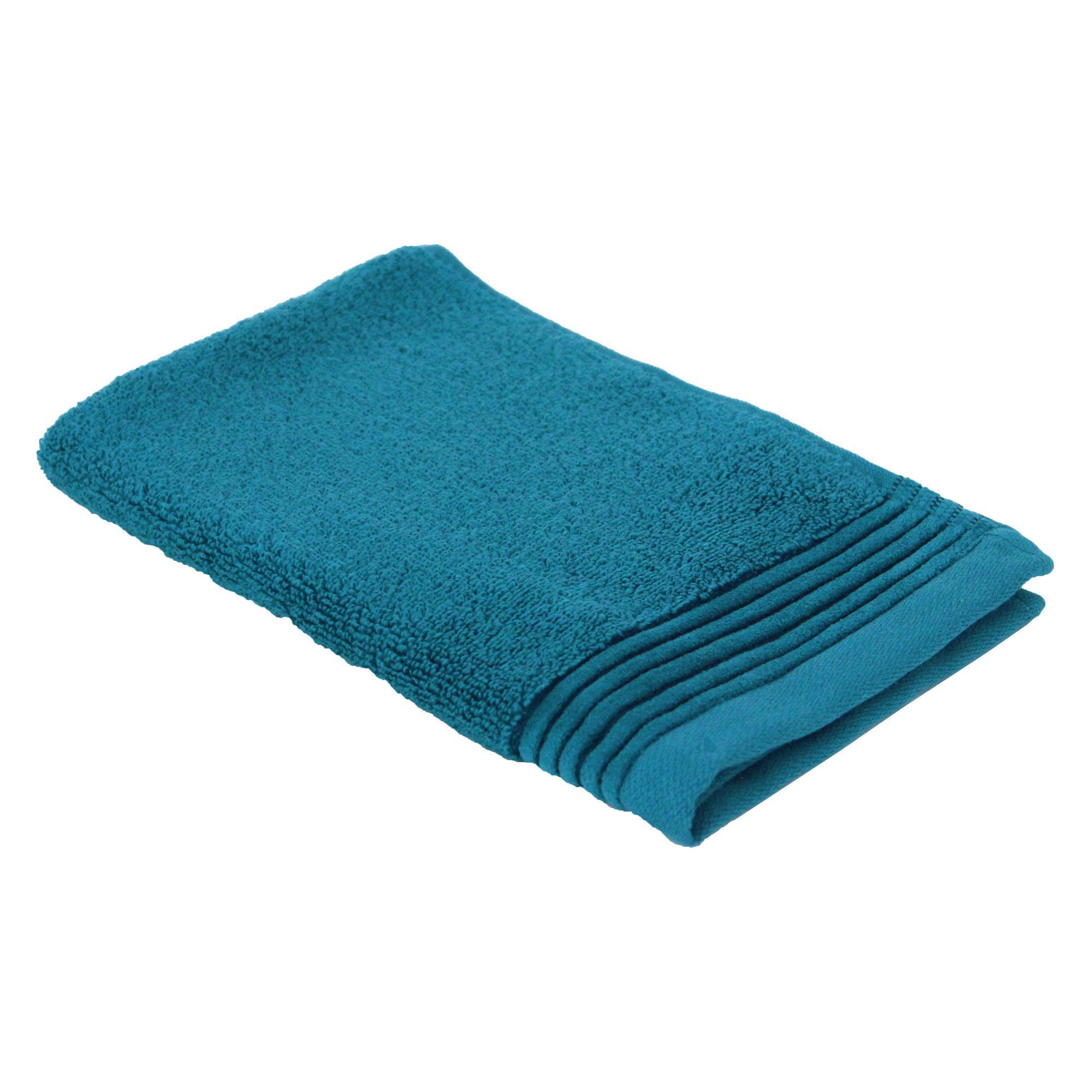 parure de bain 6 pi ces juliet bleu baltic 520 g m2 linnea linge de maison et. Black Bedroom Furniture Sets. Home Design Ideas