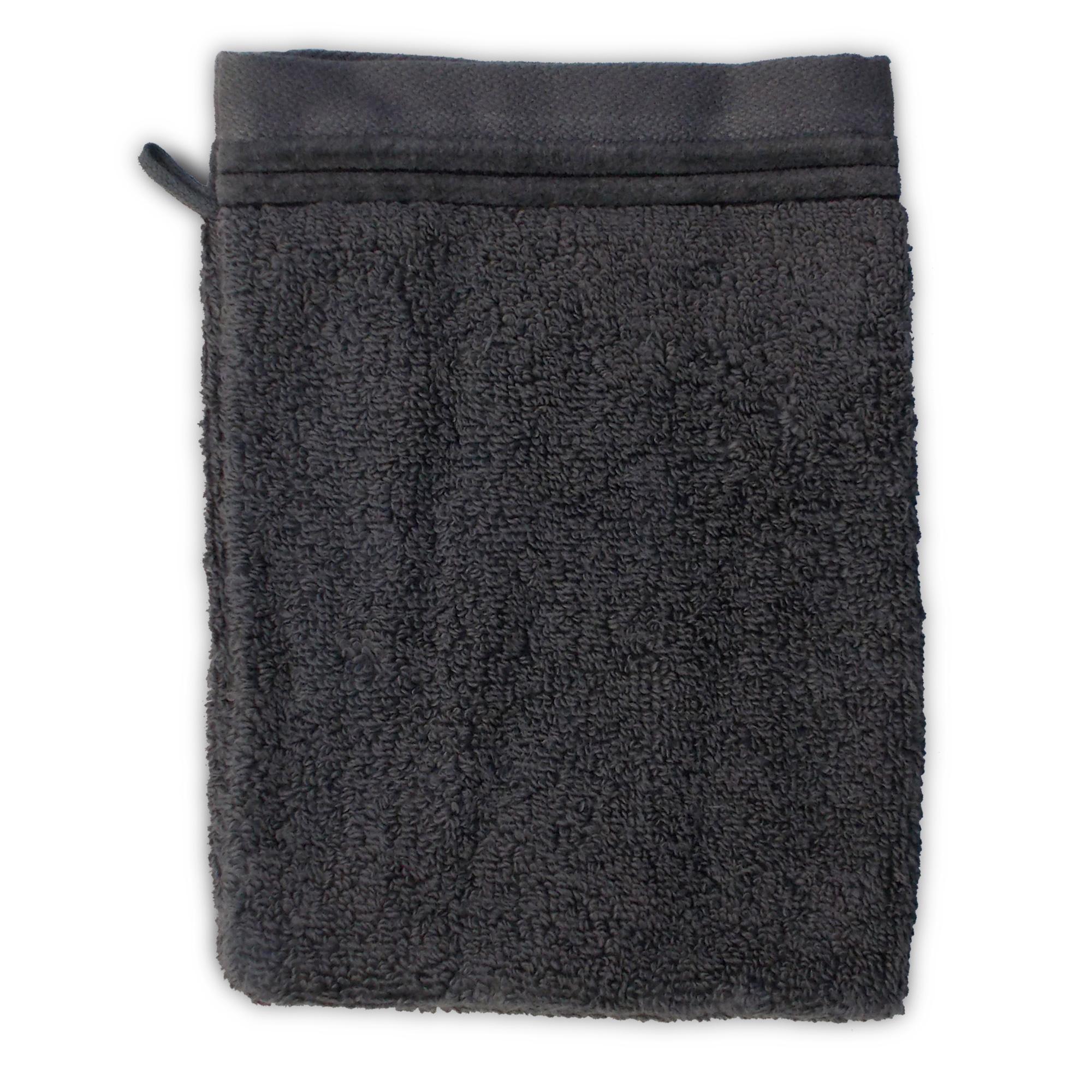 parure de bain 6 pi ces juliet anthracite 520 g m2 linnea linge de maison et. Black Bedroom Furniture Sets. Home Design Ideas