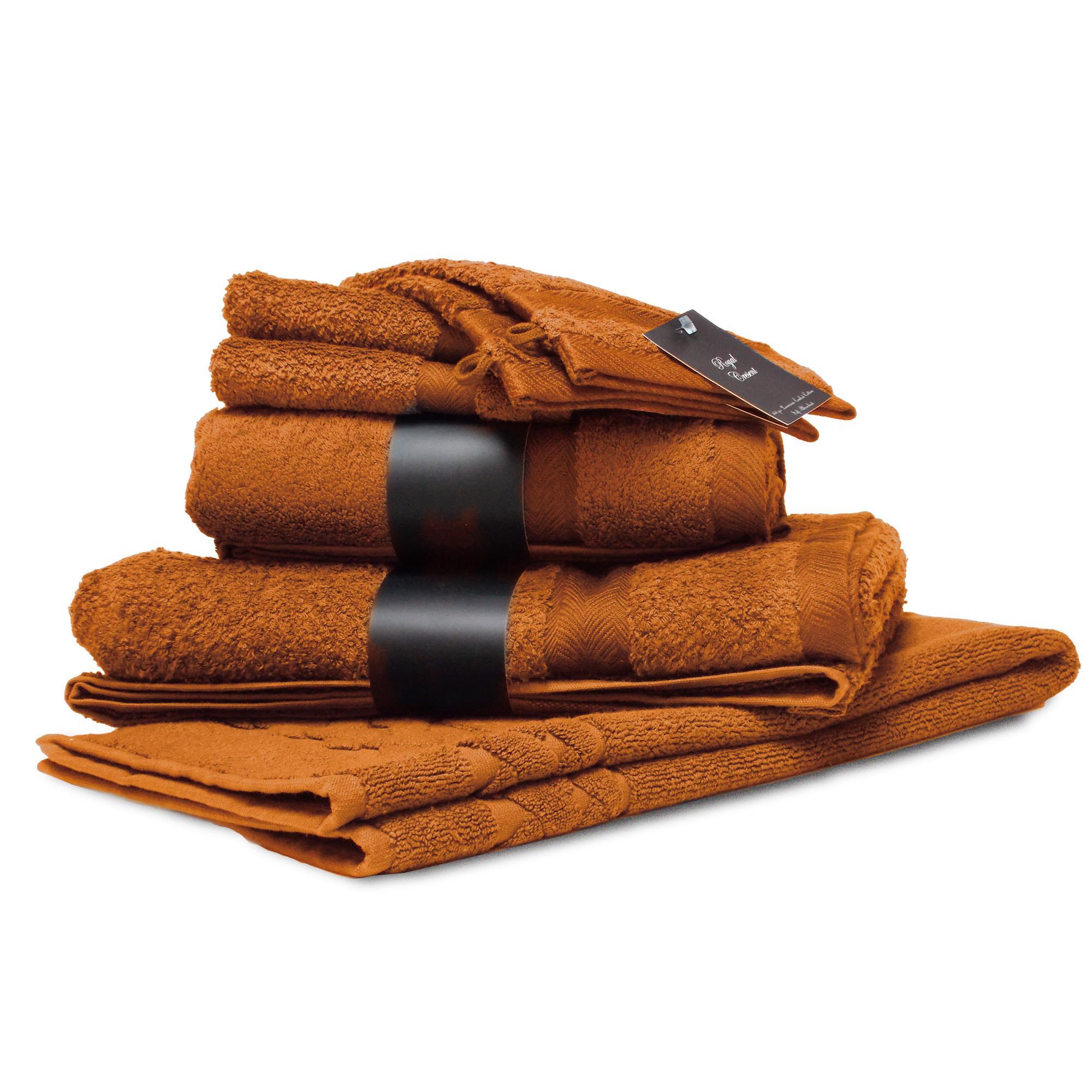 parure de bain 7 pieces coton uni royal cresent jaune topaze linnea vente de linge de maison. Black Bedroom Furniture Sets. Home Design Ideas