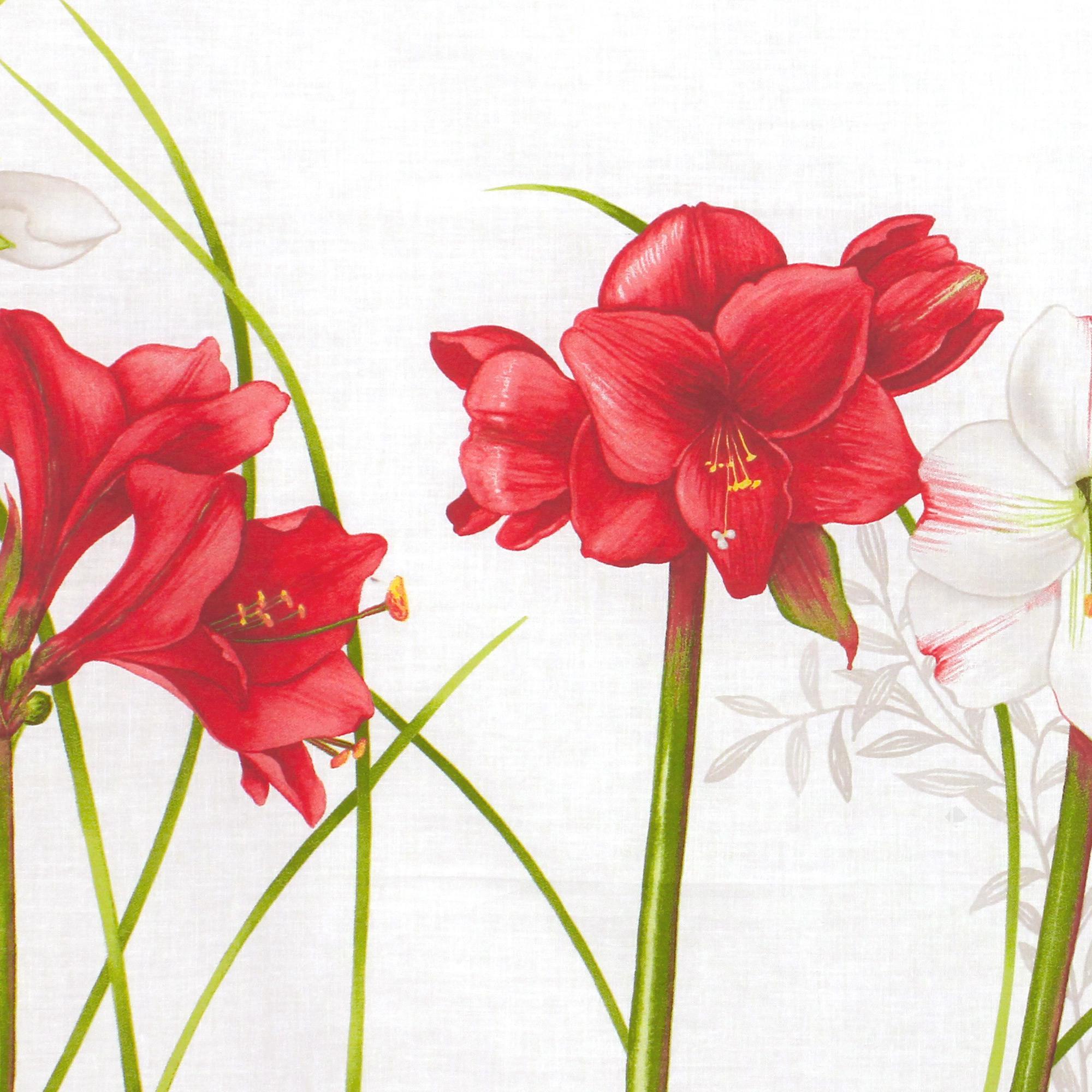 Parure de lit 140x200 cm 100 coton amaryllis blanc 2 for Amaryllis vente