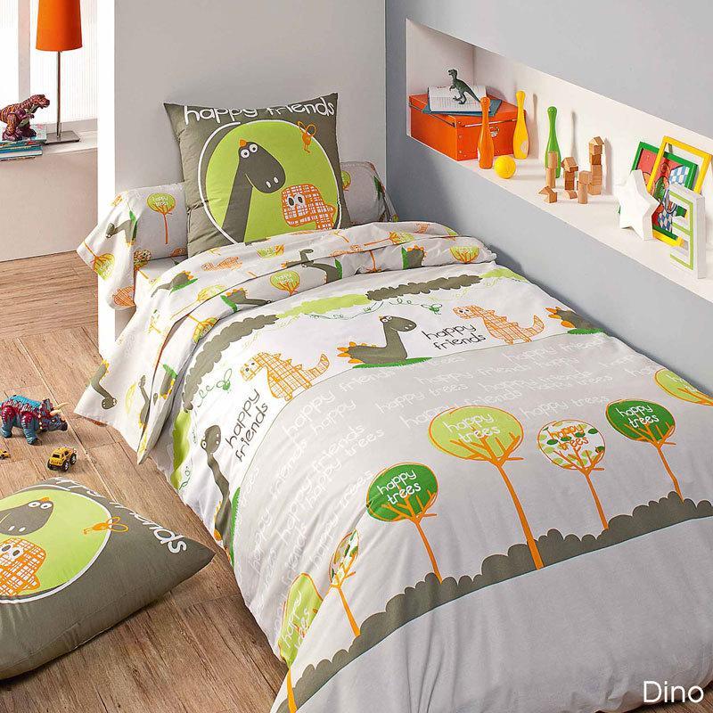parure de lit 140x200 cm dino linnea vente de linge de maison. Black Bedroom Furniture Sets. Home Design Ideas