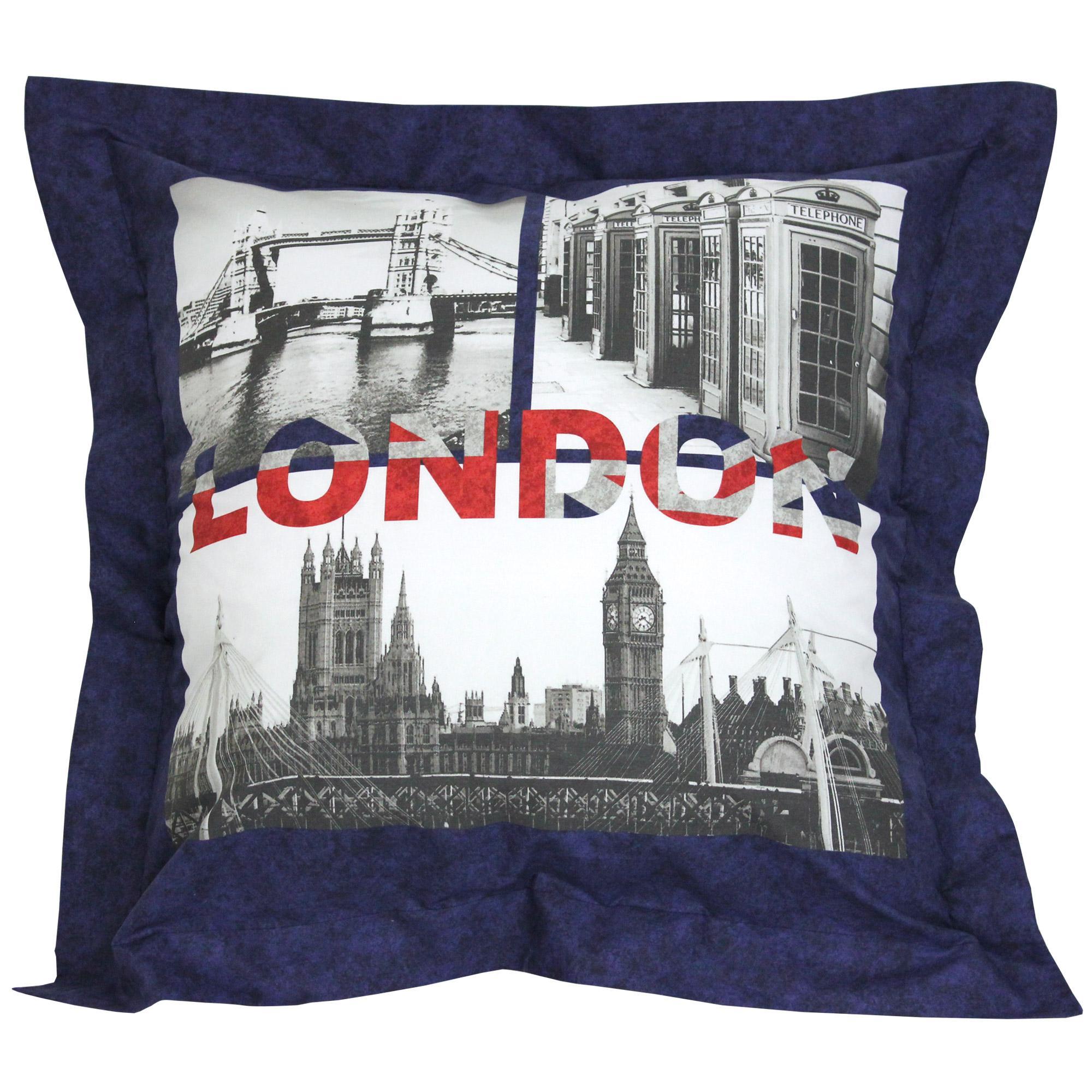 parure de lit 140x200 cm 100 coton jack london city 2. Black Bedroom Furniture Sets. Home Design Ideas