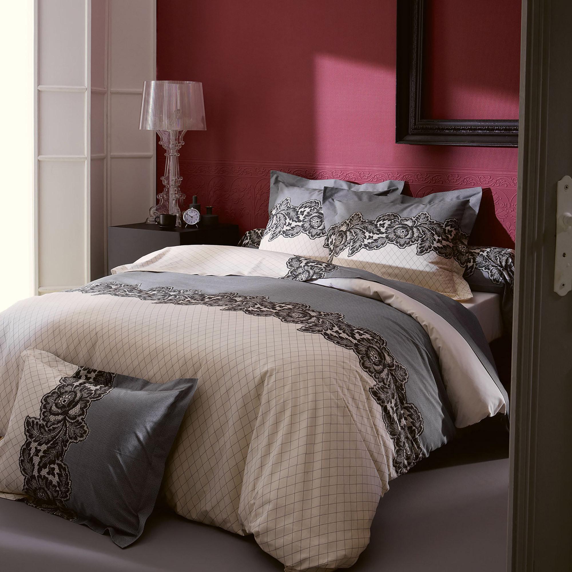 Parure de lit 140x200 cm MALICE   Linnea, linge de maison et