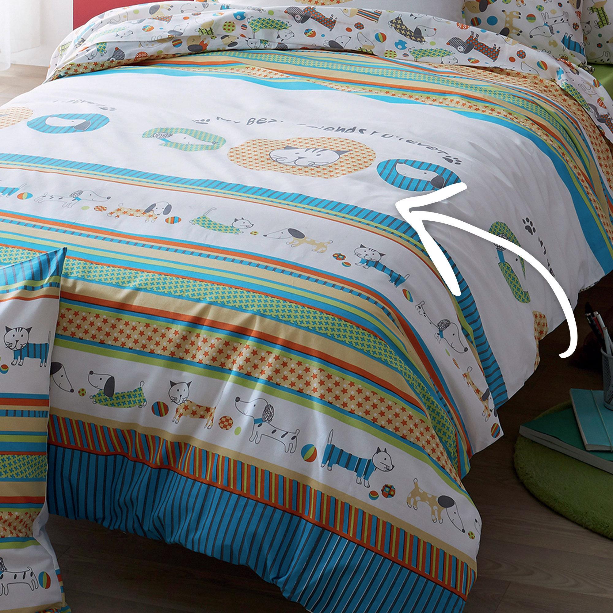 parure de lit 140x200 cm wouaf linnea vente de linge de maison. Black Bedroom Furniture Sets. Home Design Ideas