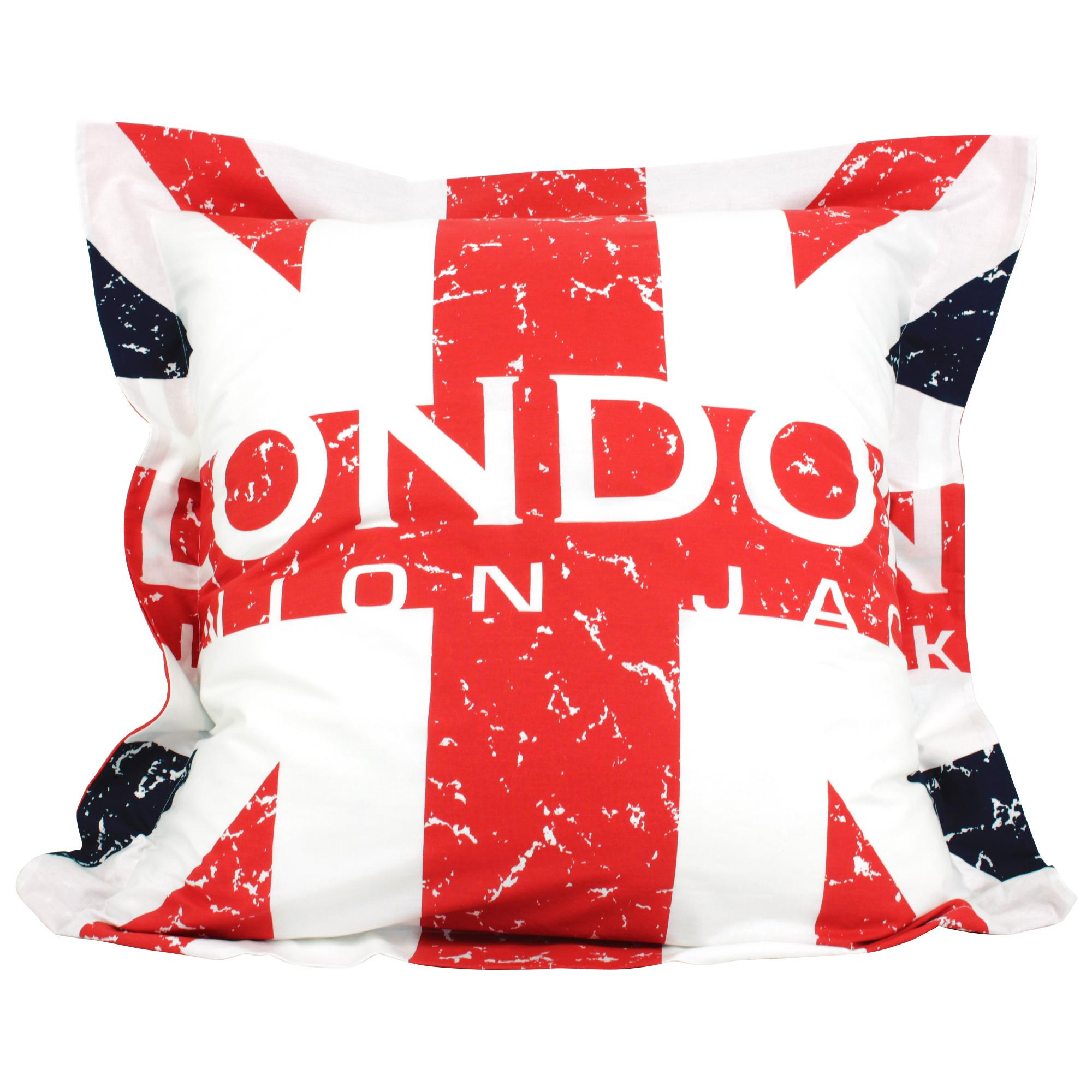 parure de lit 200x200 cm london union jack linnea vente de linge de maison. Black Bedroom Furniture Sets. Home Design Ideas