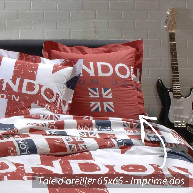 parure de lit 200x200 cm london union jack linnea vente. Black Bedroom Furniture Sets. Home Design Ideas