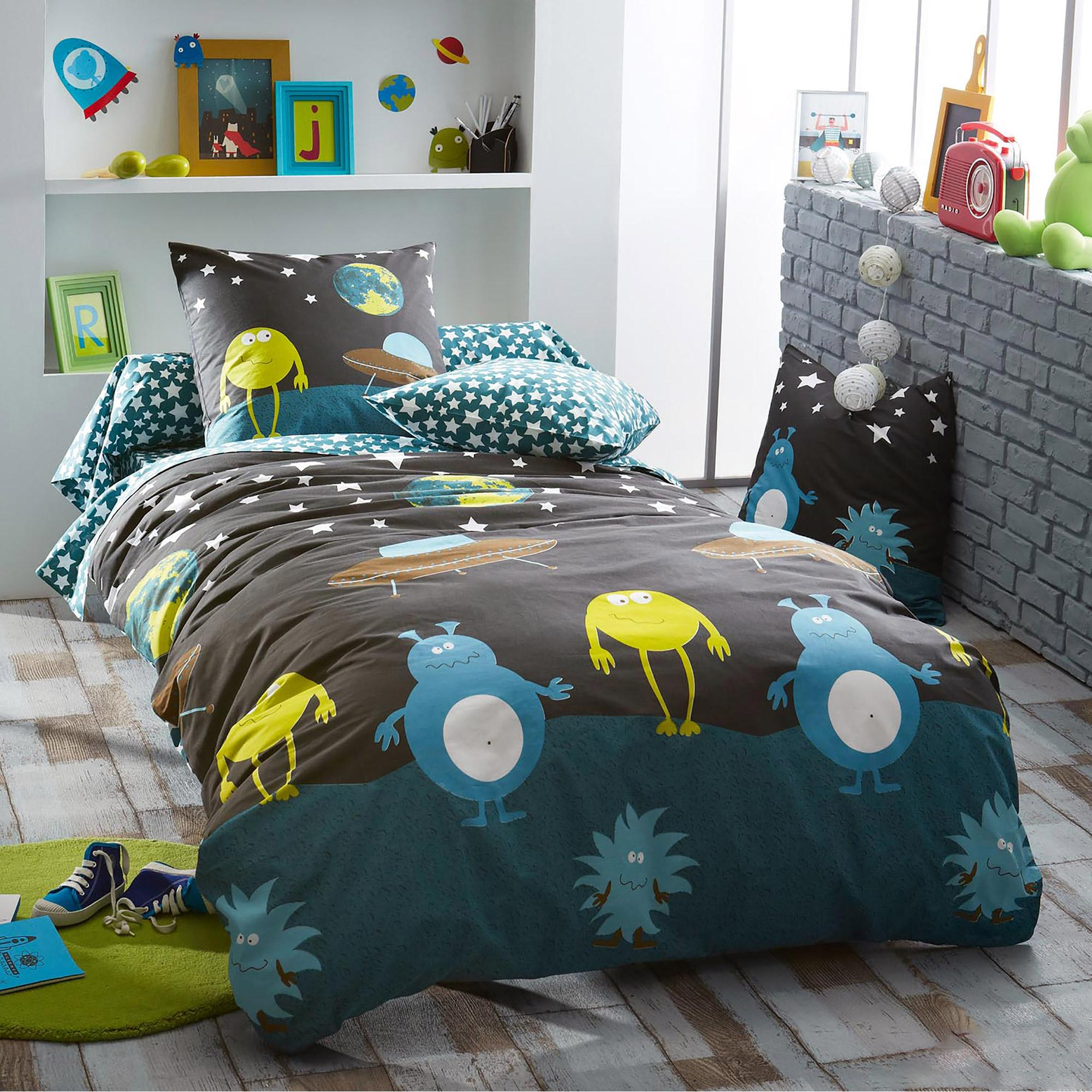 parure de lit 200x200 100 coton monsters eur 72 75 picclick fr. Black Bedroom Furniture Sets. Home Design Ideas