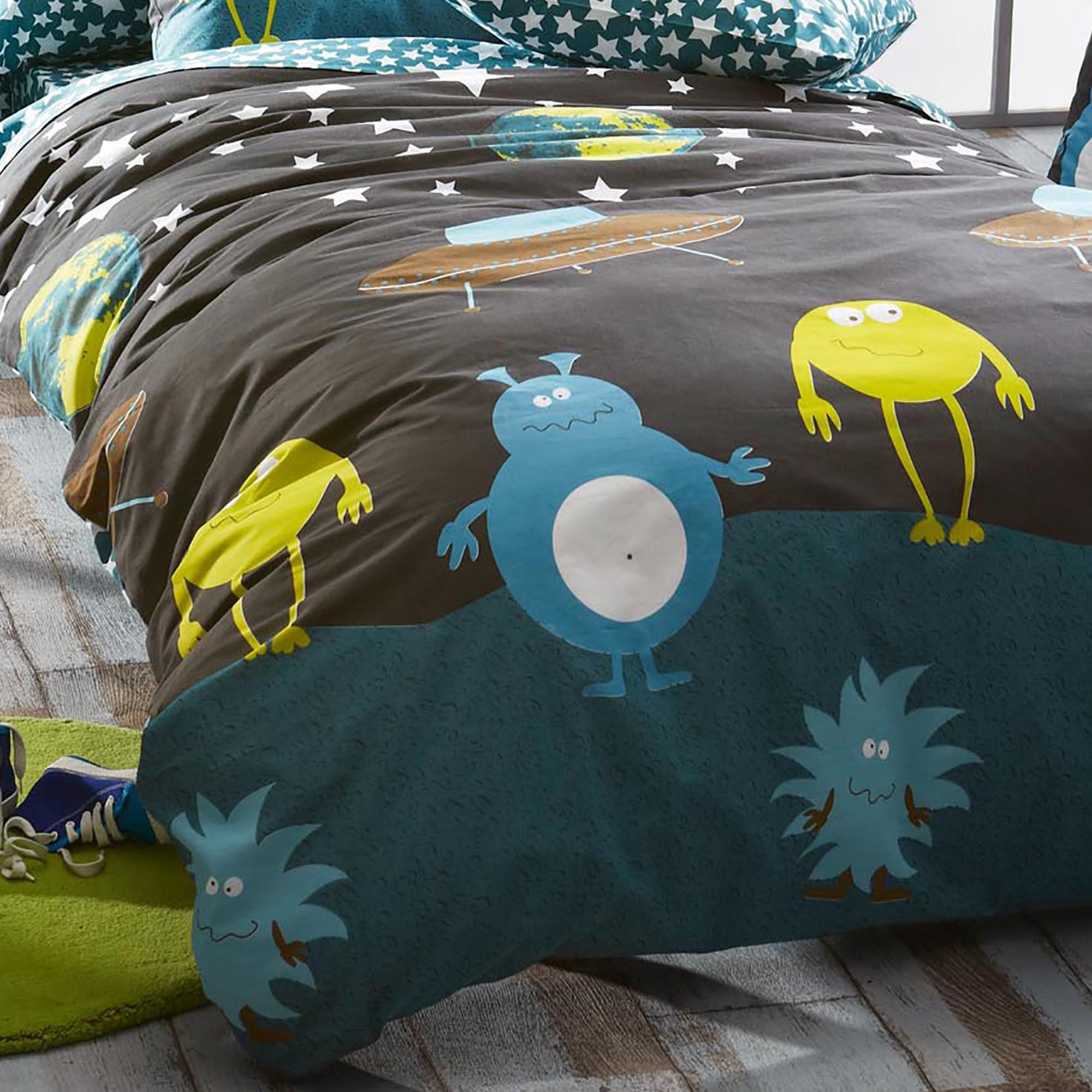 parure de lit 200x200 100 coton monsters eur 75 96 picclick fr. Black Bedroom Furniture Sets. Home Design Ideas