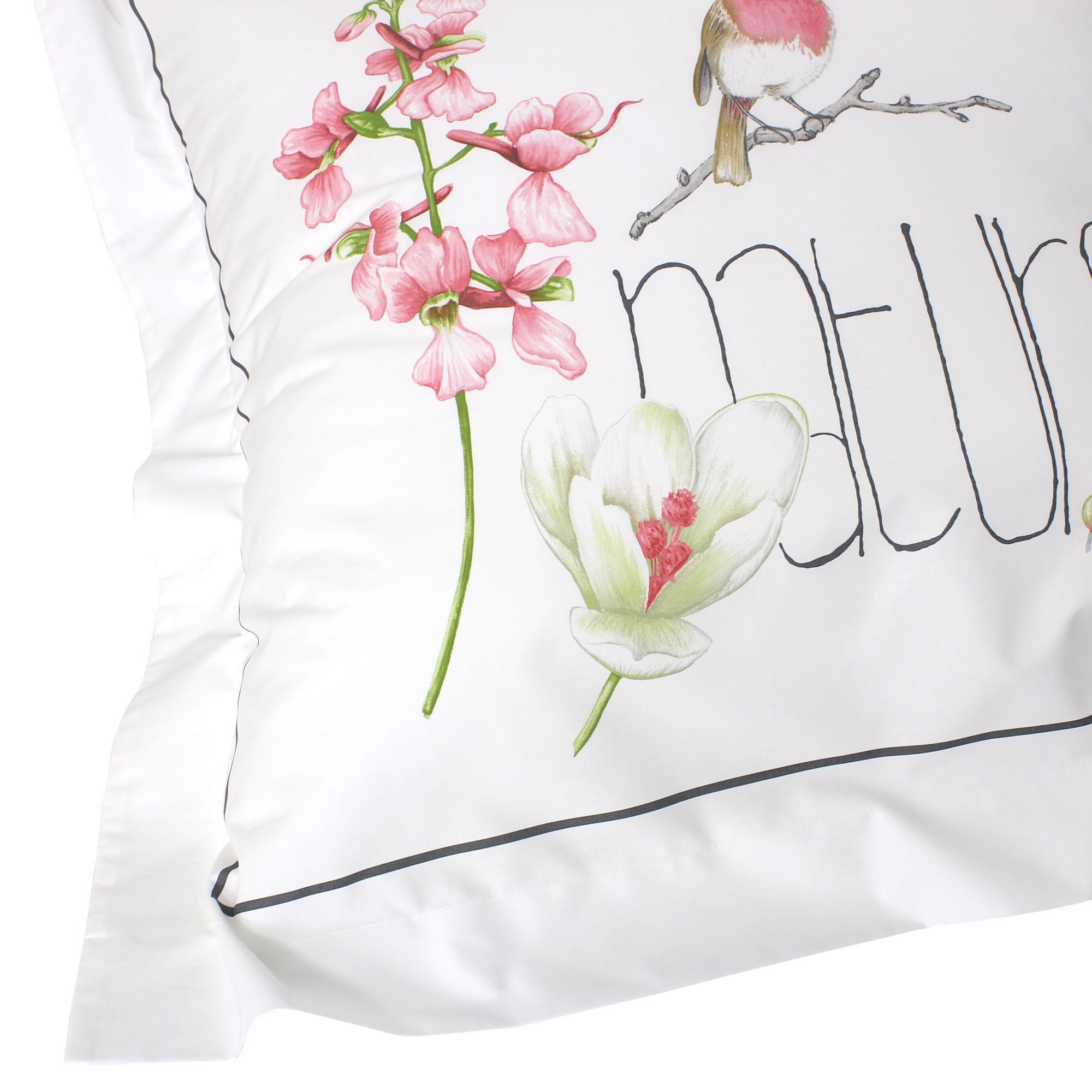 parure de lit 200x200 cm percale pur coton pure nature blanc 3 pi ces linnea vente de linge de. Black Bedroom Furniture Sets. Home Design Ideas