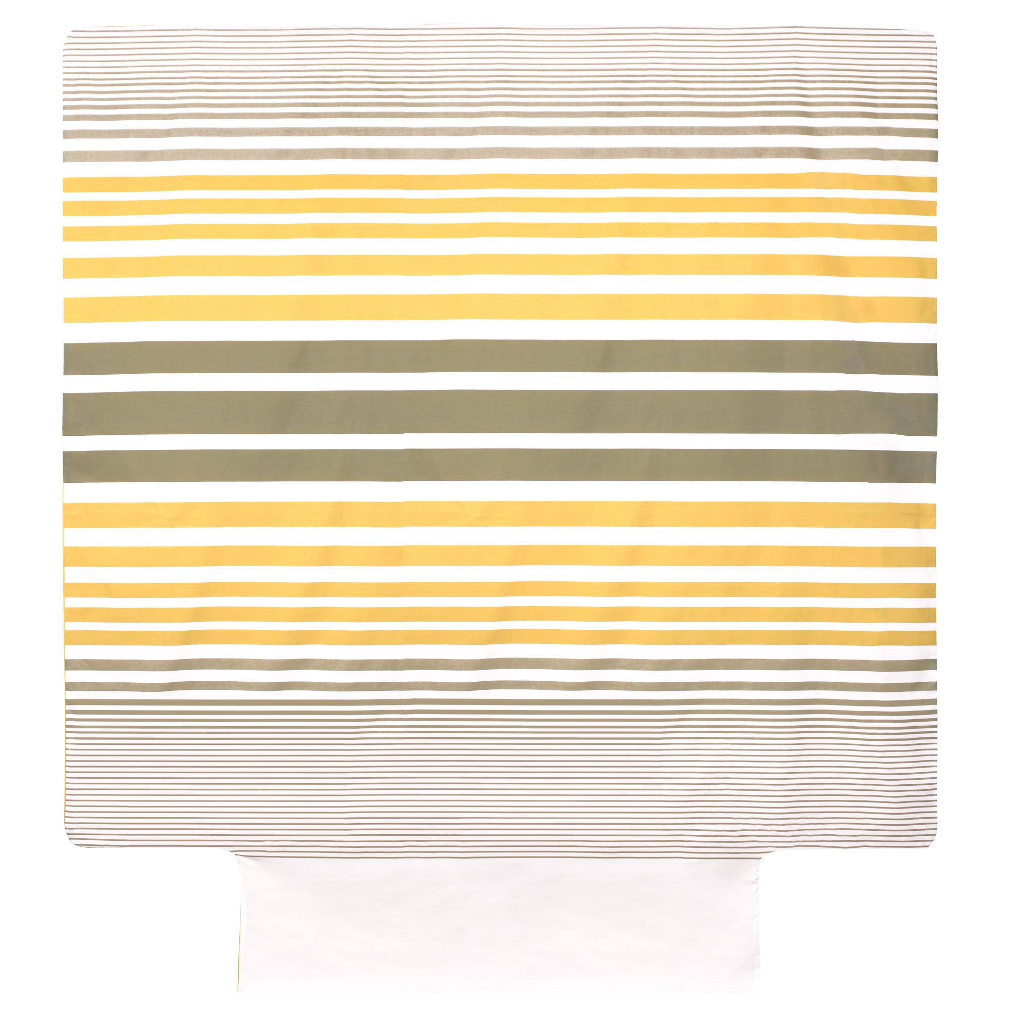 parure de lit 200x200 percale pur coton stripe narcisse jaune 3 pi ces ebay. Black Bedroom Furniture Sets. Home Design Ideas