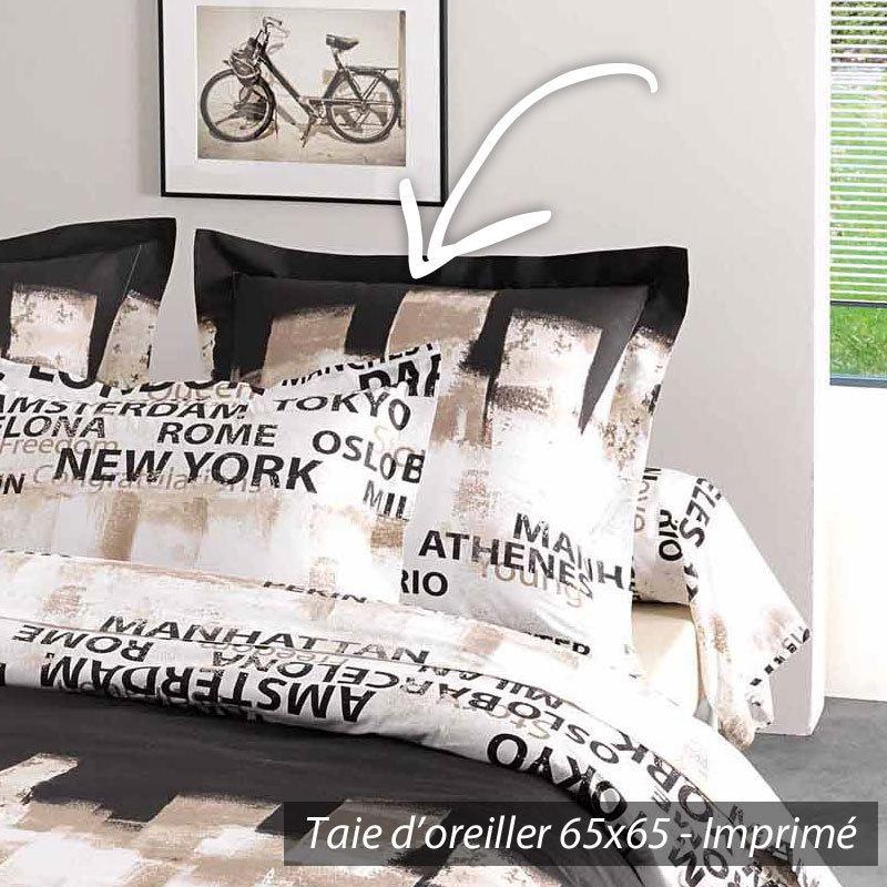parure de lit 260x240 cm 100 coton factory linnea vente de linge de maison. Black Bedroom Furniture Sets. Home Design Ideas