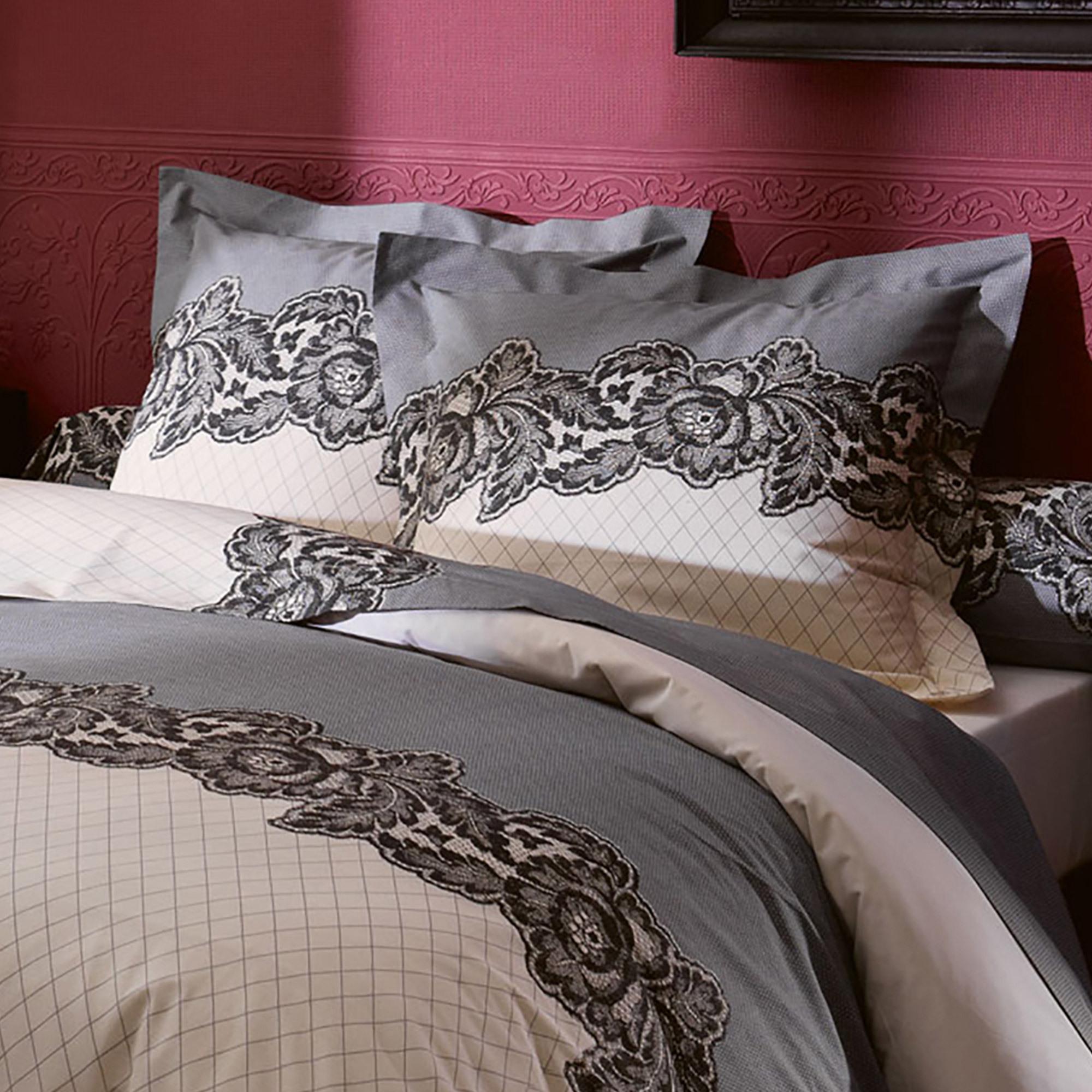 parure de lit 260x240 cm 100 coton malice linnea vente de linge de maison. Black Bedroom Furniture Sets. Home Design Ideas