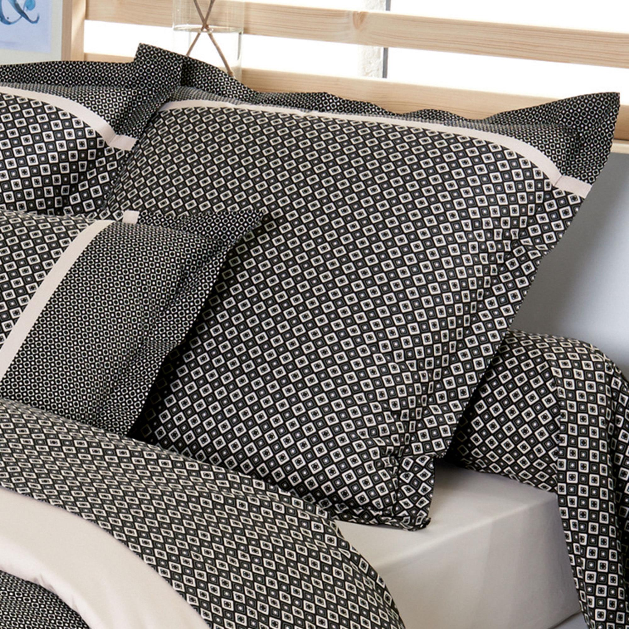 parure de lit 140x200 percale pur coton gatsby ebay. Black Bedroom Furniture Sets. Home Design Ideas