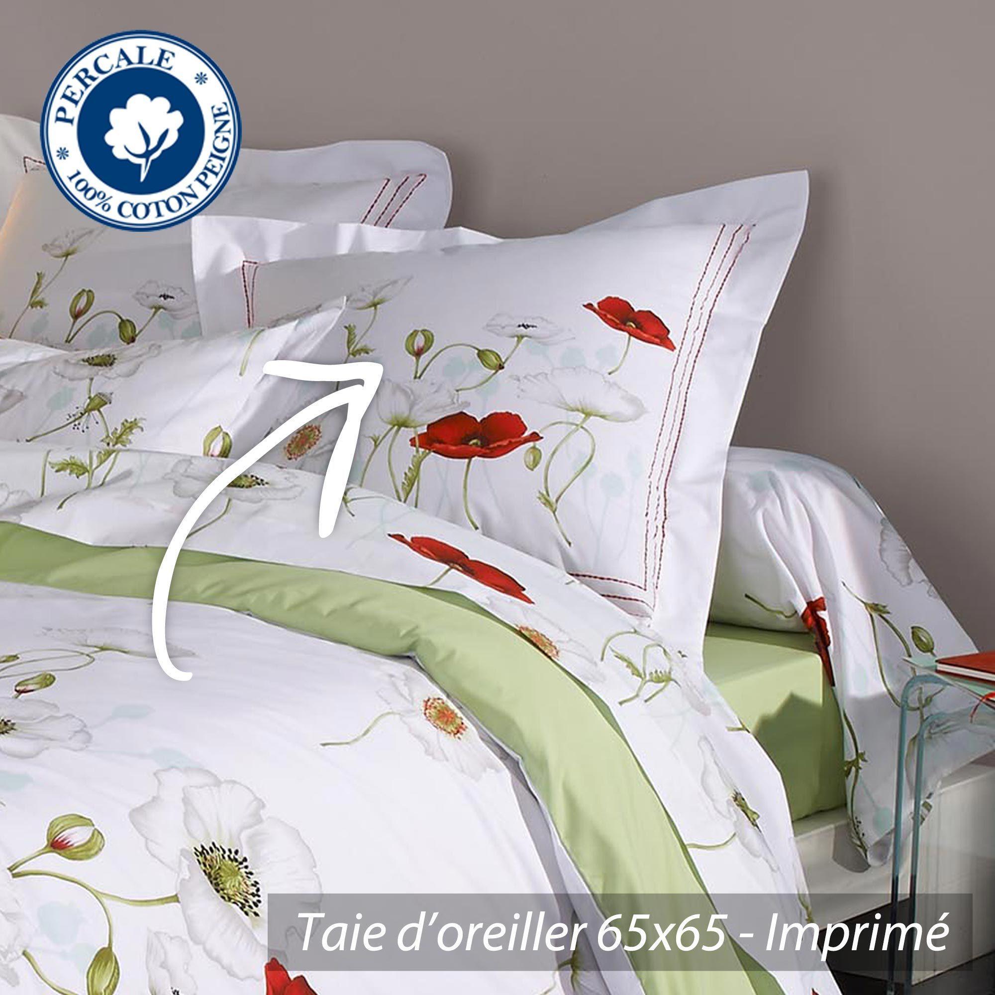 parure de lit percale pur coton peign 140x200 cm. Black Bedroom Furniture Sets. Home Design Ideas