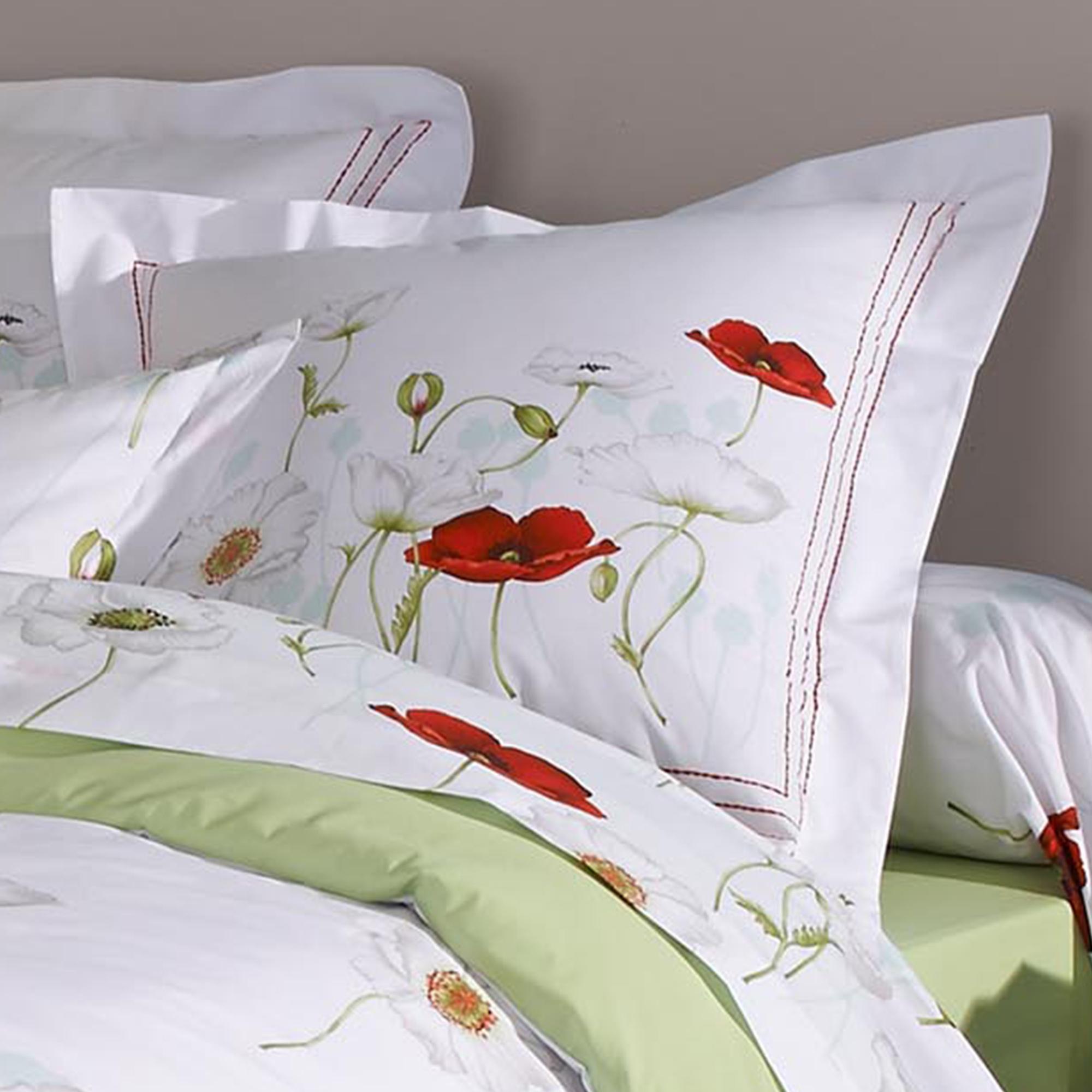 parure de lit percale pur coton peign 240x220 cm seduction linnea linge de maison et. Black Bedroom Furniture Sets. Home Design Ideas