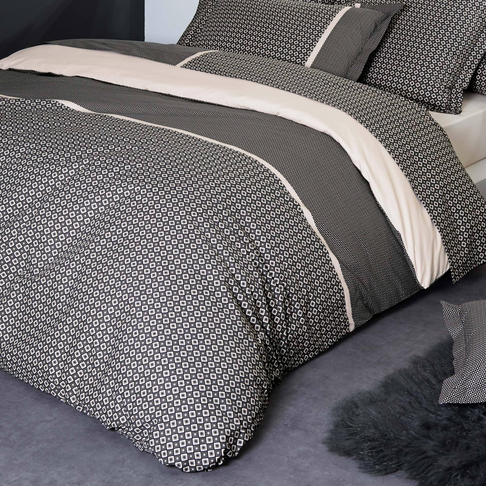 parure de lit 260x240 percale pur coton gatsby ebay. Black Bedroom Furniture Sets. Home Design Ideas