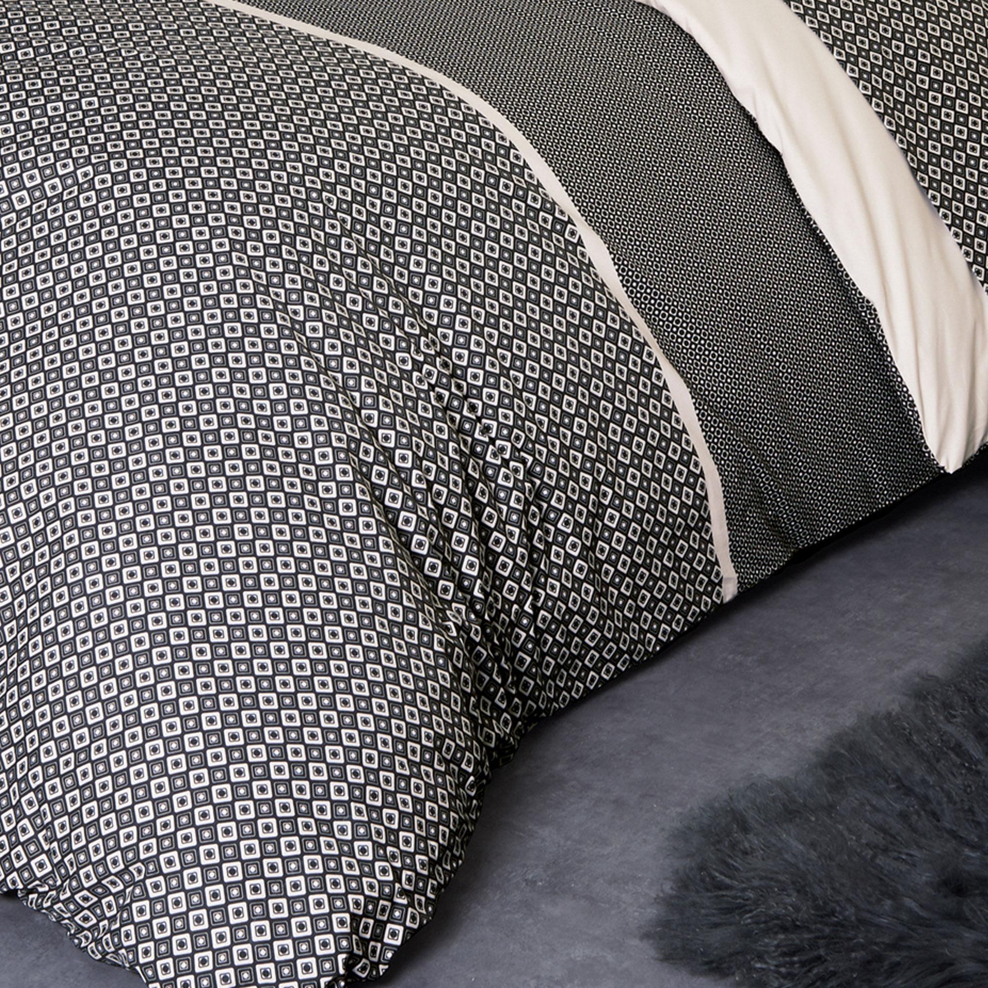 parure de lit percale pur coton peign 260x240 cm gatsby. Black Bedroom Furniture Sets. Home Design Ideas