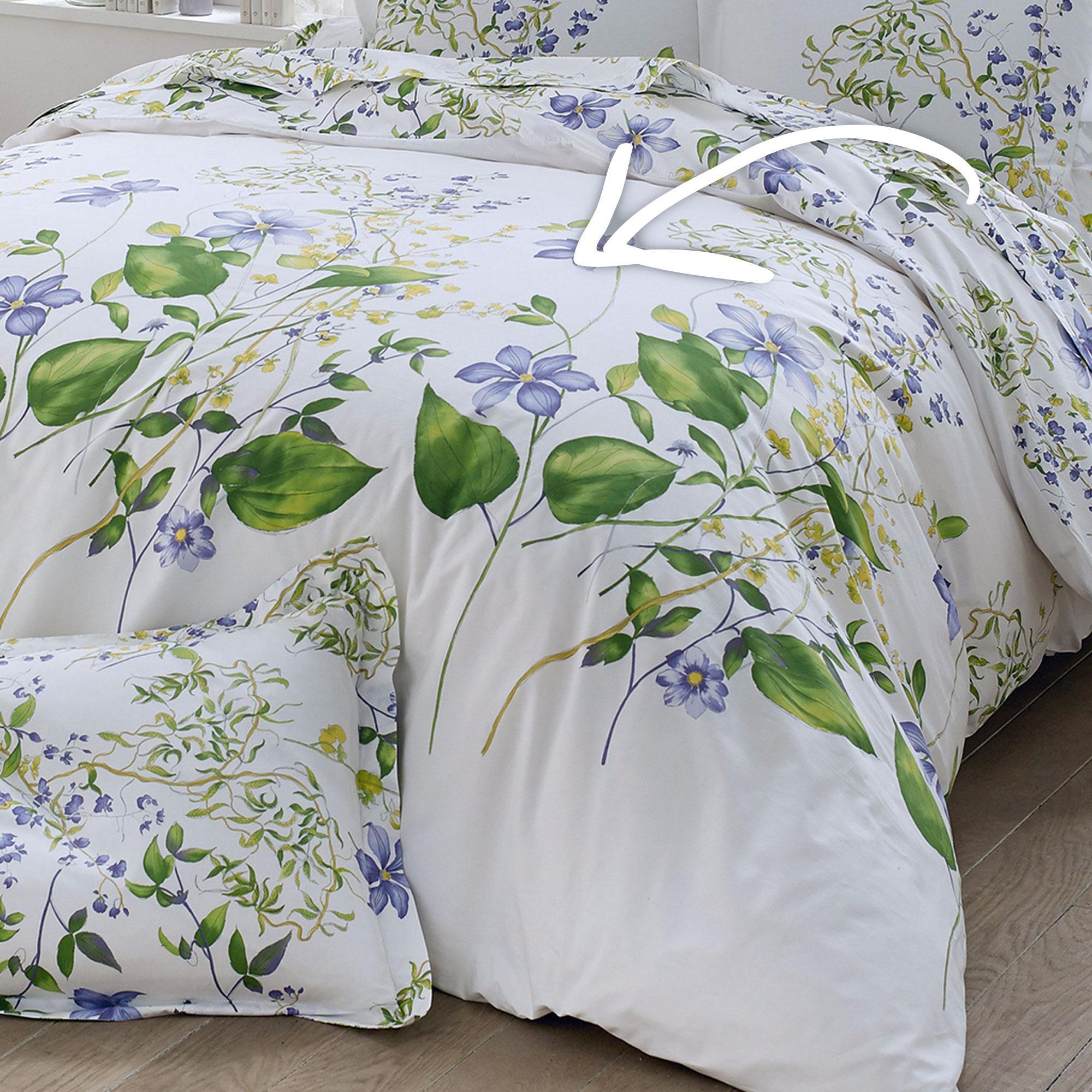parure de lit percale pur coton peign 280x240 cm grace. Black Bedroom Furniture Sets. Home Design Ideas